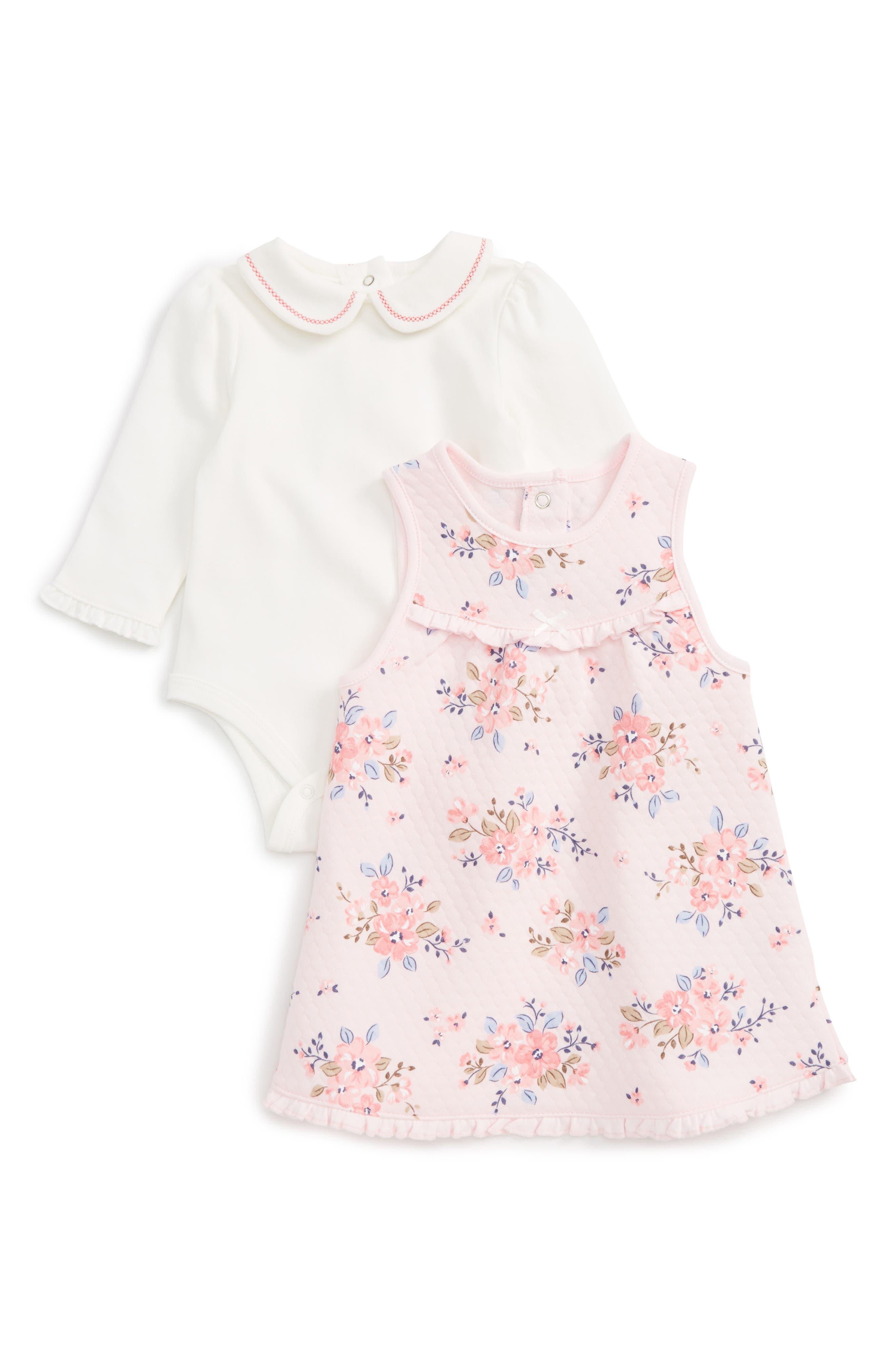Little Me Floral Print Dress & Bodysuit Set (Baby Girls)
