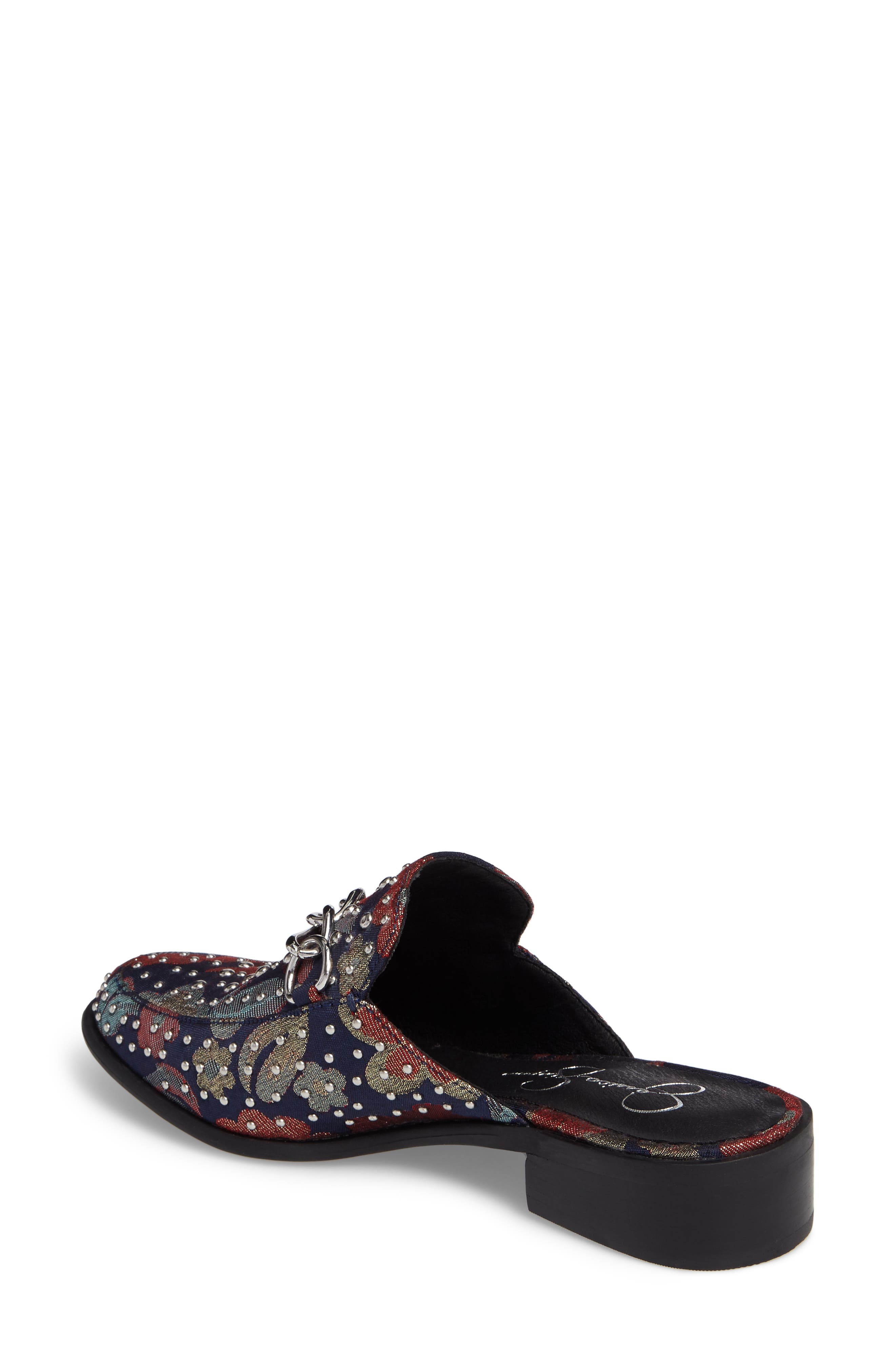 Beez Loafer Mule,                             Alternate thumbnail 2, color,                             Blue Multi Brocade Fabric