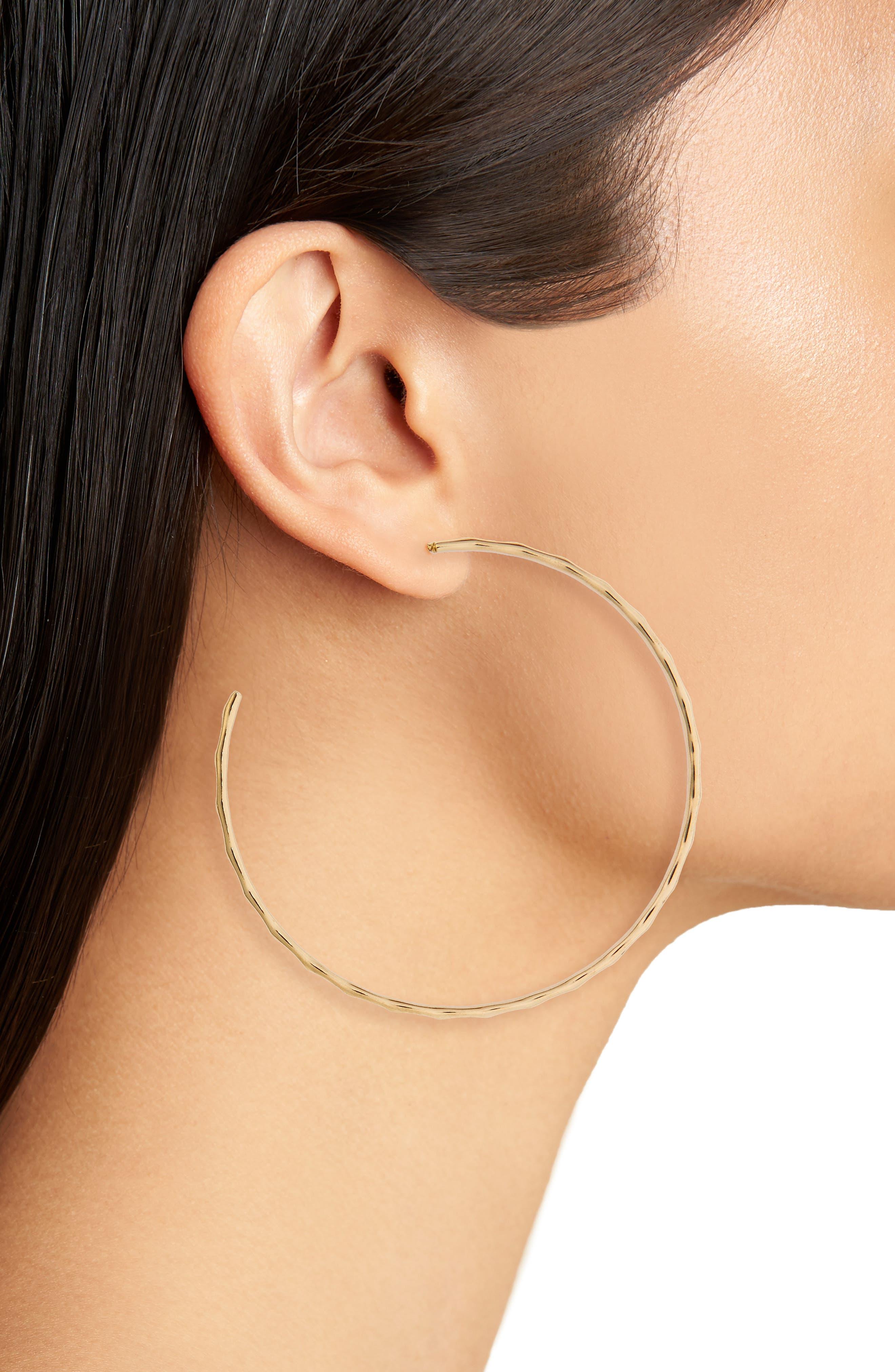 Alternate Image 2  - BP. Textured Hoop Earrings