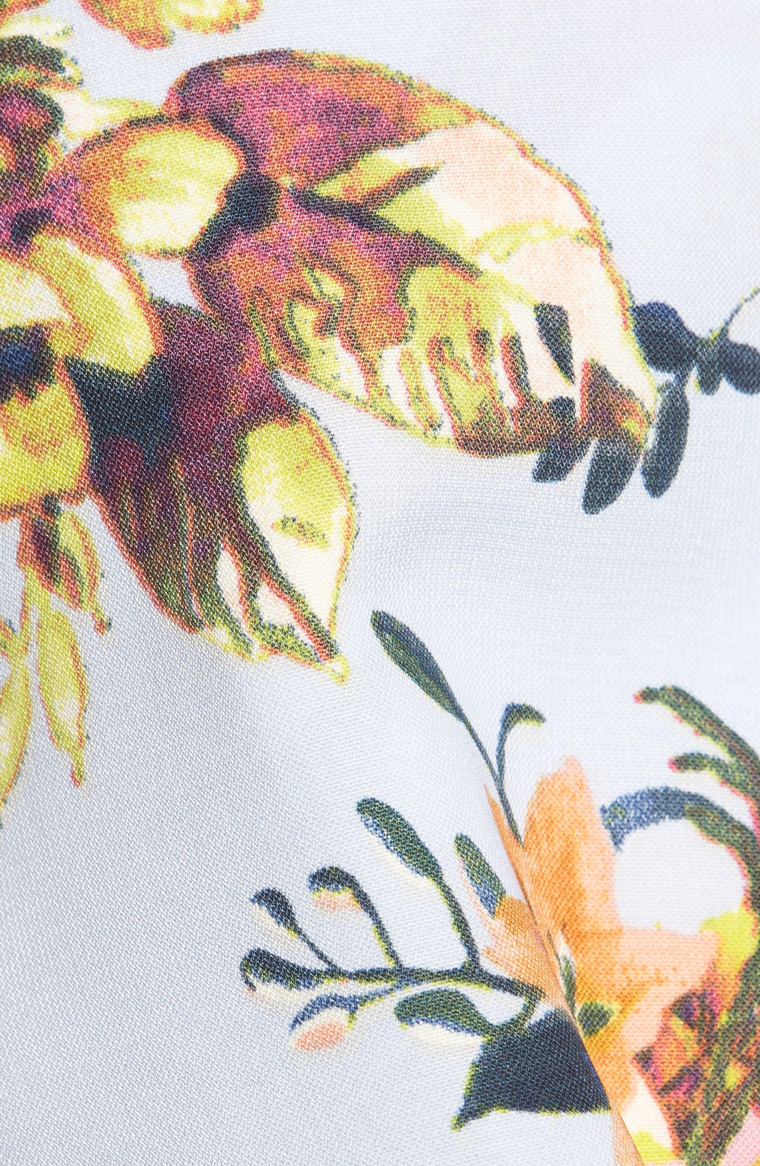 Print Wrap Top,                             Alternate thumbnail 5, color,                             Blue Kentucky Floral