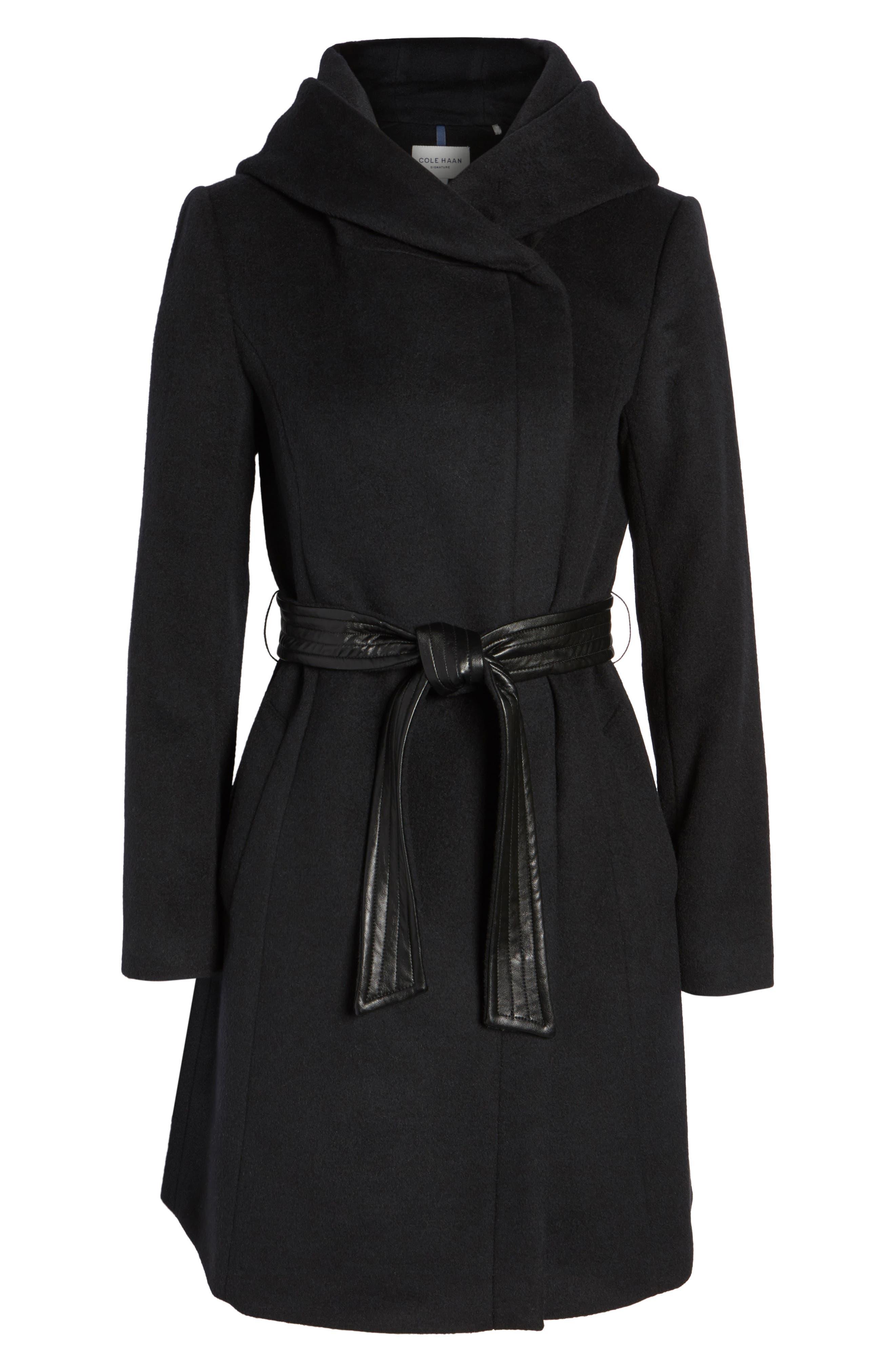 Alternate Image 6  - Cole Haan Belted Asymmetrical Wool Coat