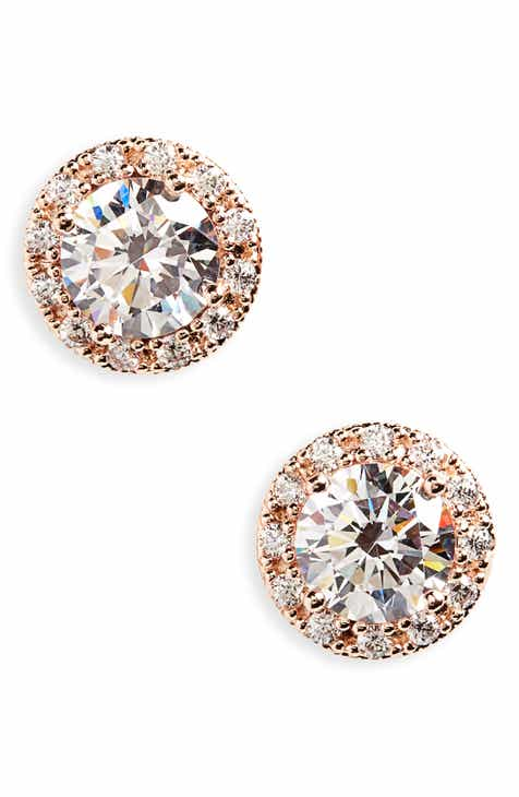 cut lemon gold products plated zirconia crystal cubic round earrings