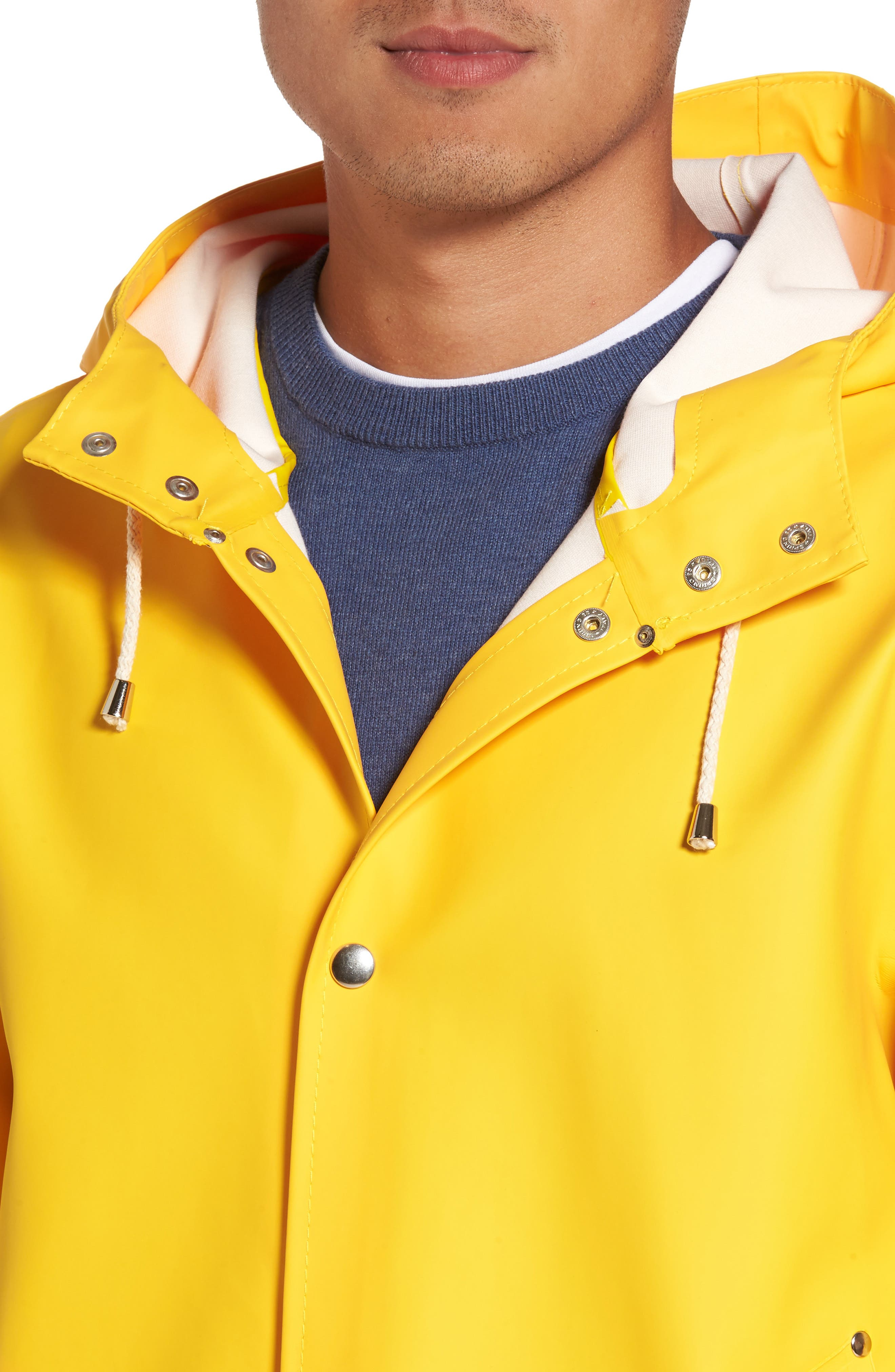 Stockholm Waterproof Hooded Raincoat,                             Alternate thumbnail 4, color,                             Yellow