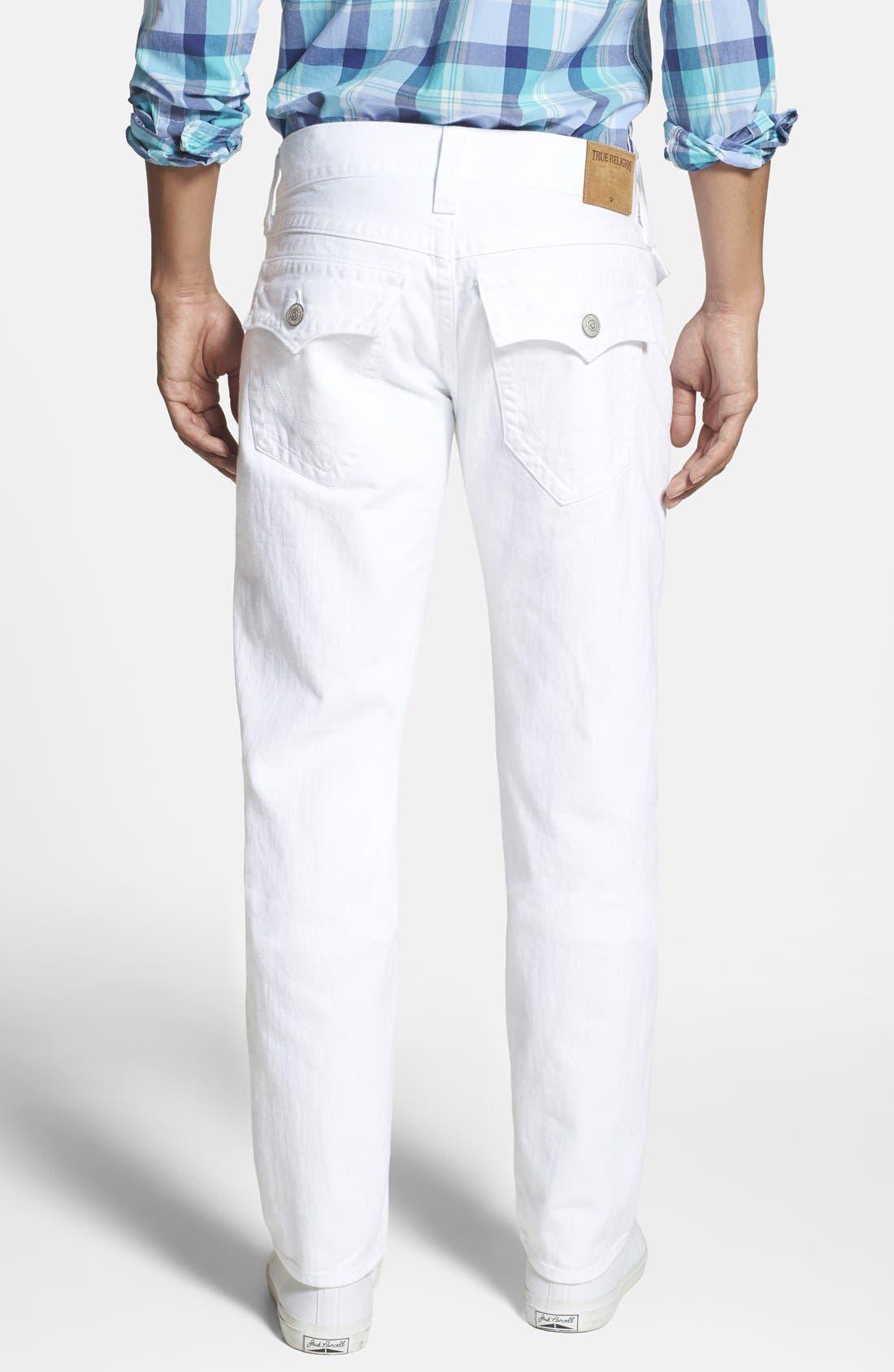 'Geno' Straight Leg Jeans,                             Alternate thumbnail 2, color,                             Optic White