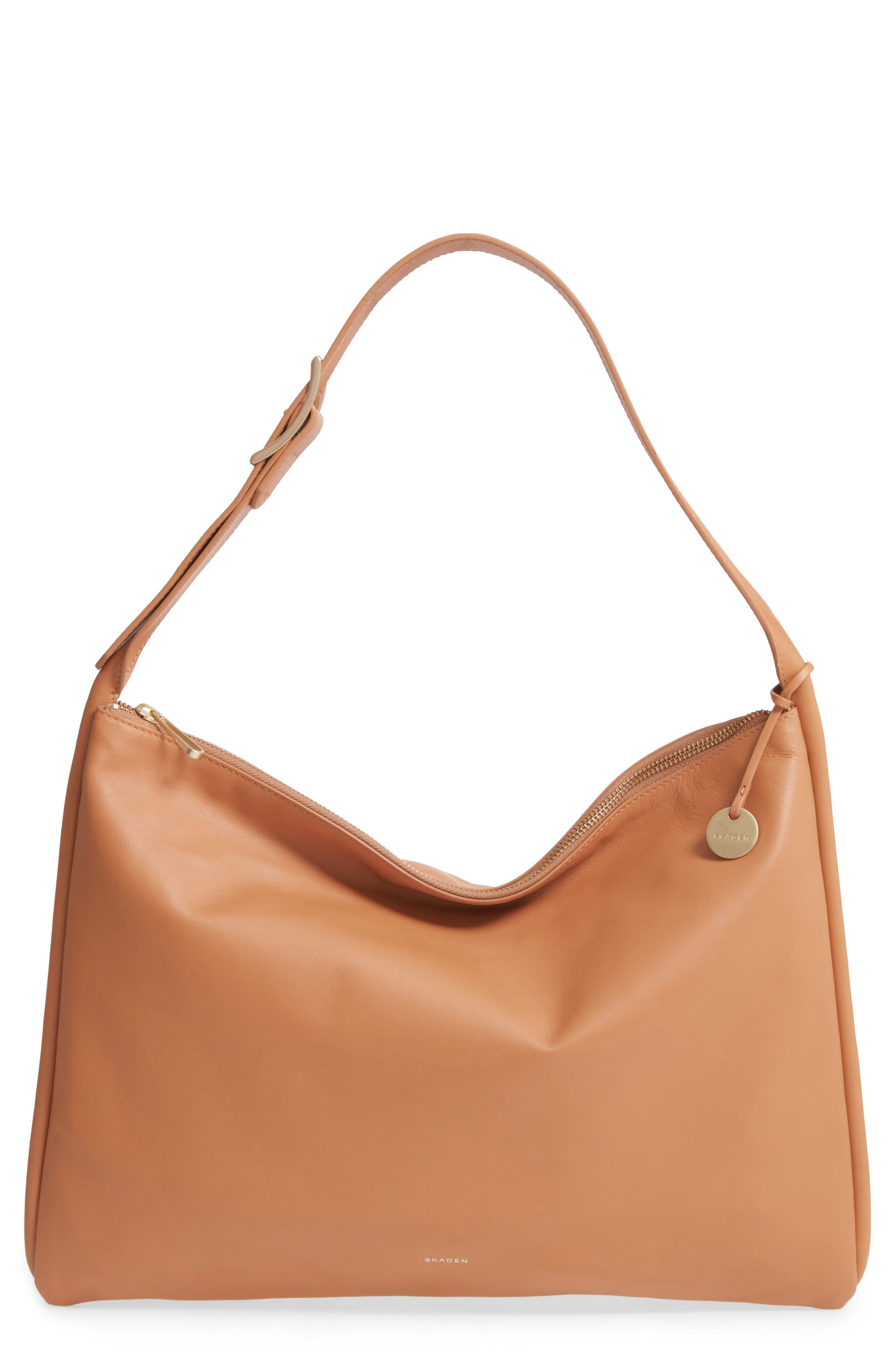 Anesa Leather Shoulder Bag,                             Main thumbnail 1, color,                             Tan