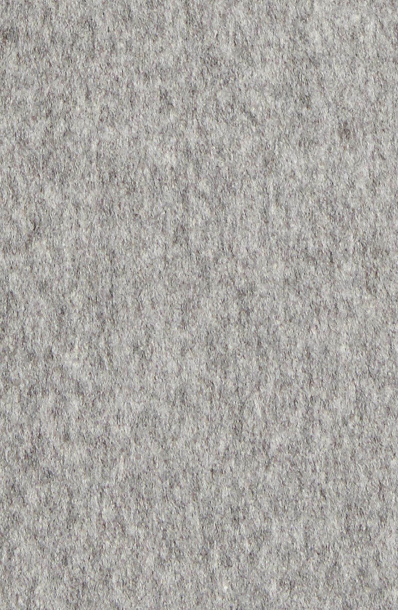 Alternate Image 5  - Fleurette Wool Wrap Coat (Regular & Petite)
