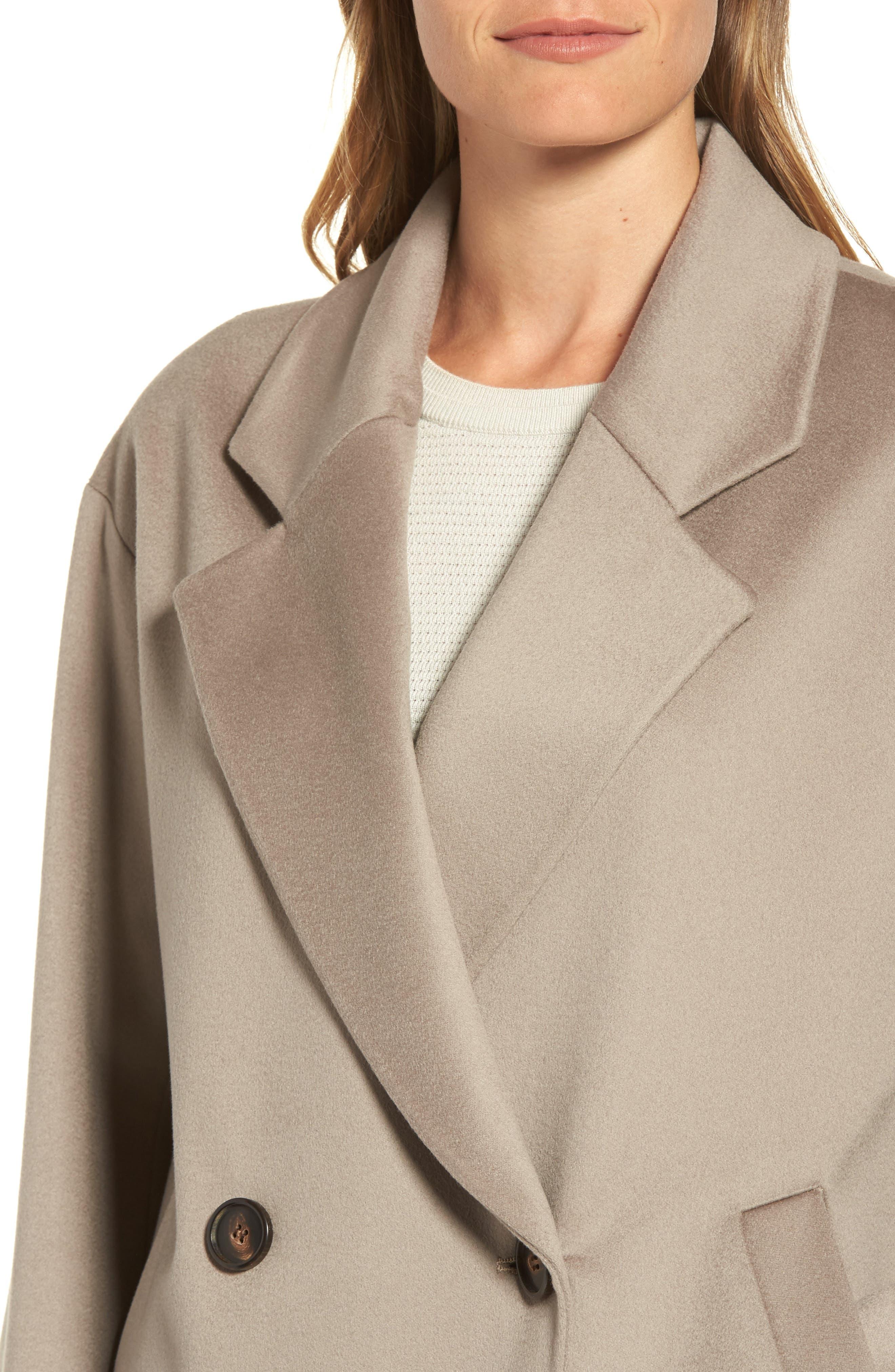 Alternate Image 4  - Fleurette 45 Loro Piana Wool Coat