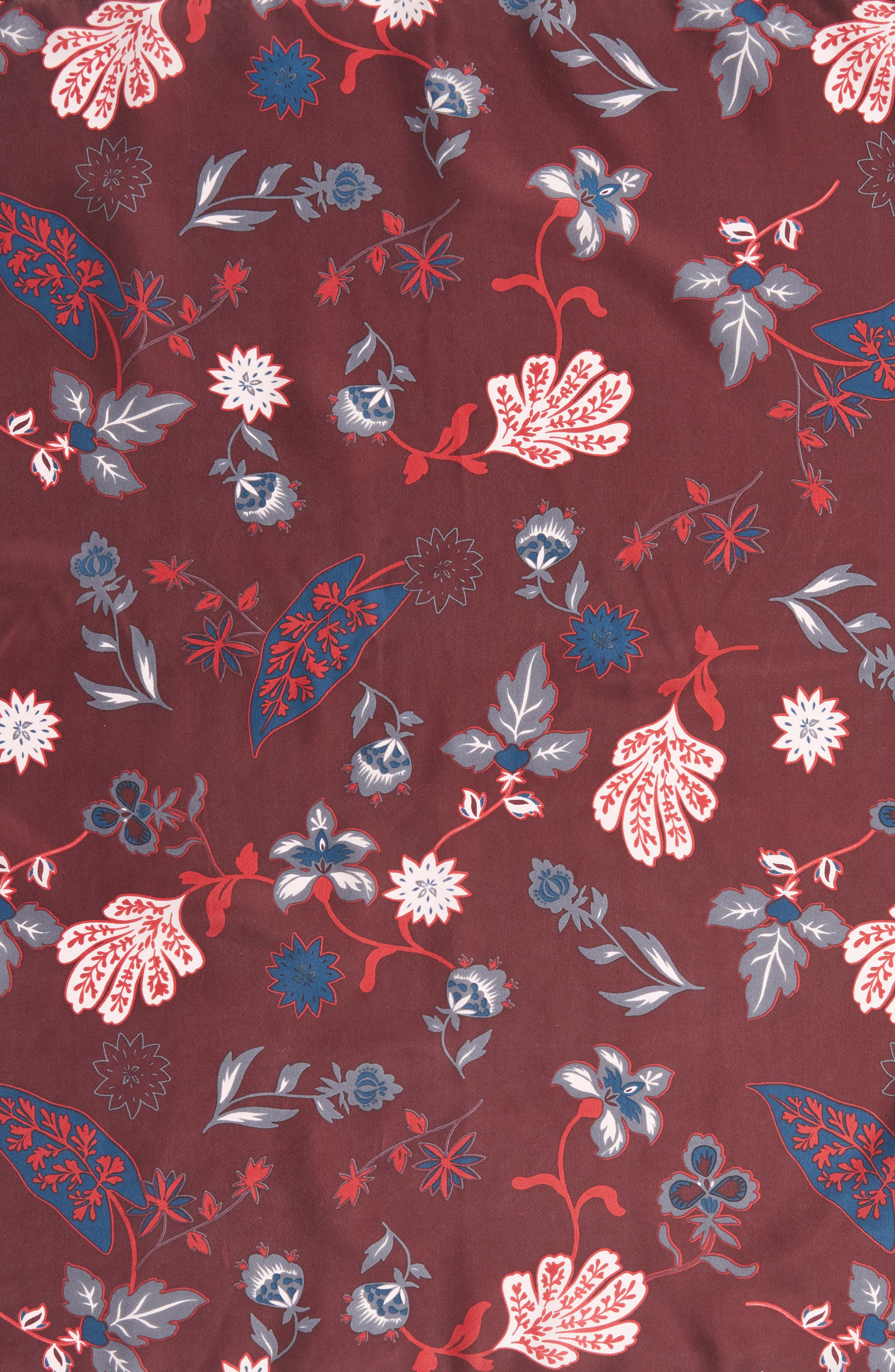 Alternate Image 4  - Treasure & Bond Funky Foliage Square Silk Scarf
