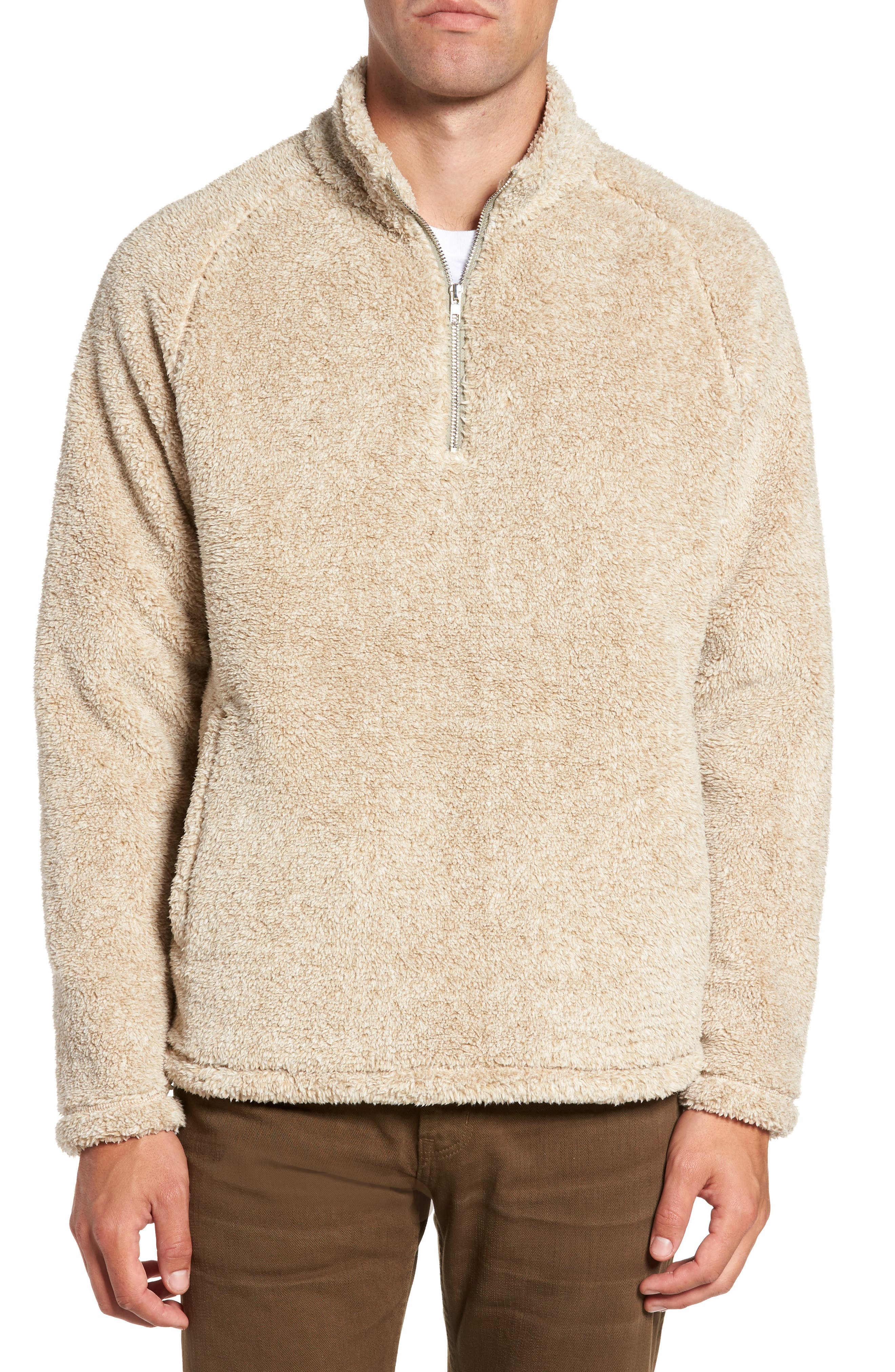 Nordstrom Men's Shop Polar Fleece Quarter Zip Pullover