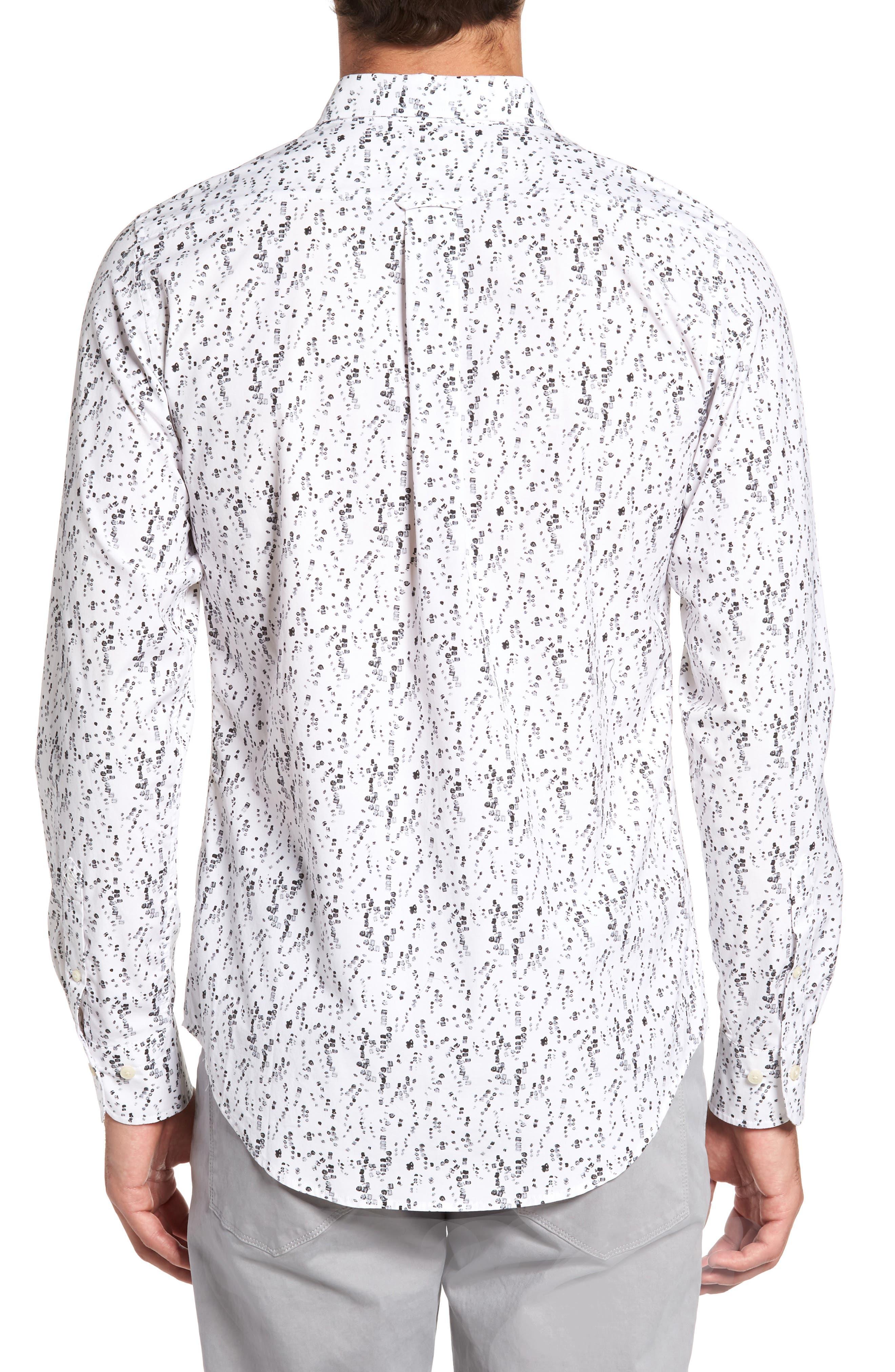 Alternate Image 2  - Gant Slim Fit Crushed Ice Print Sport Shirt