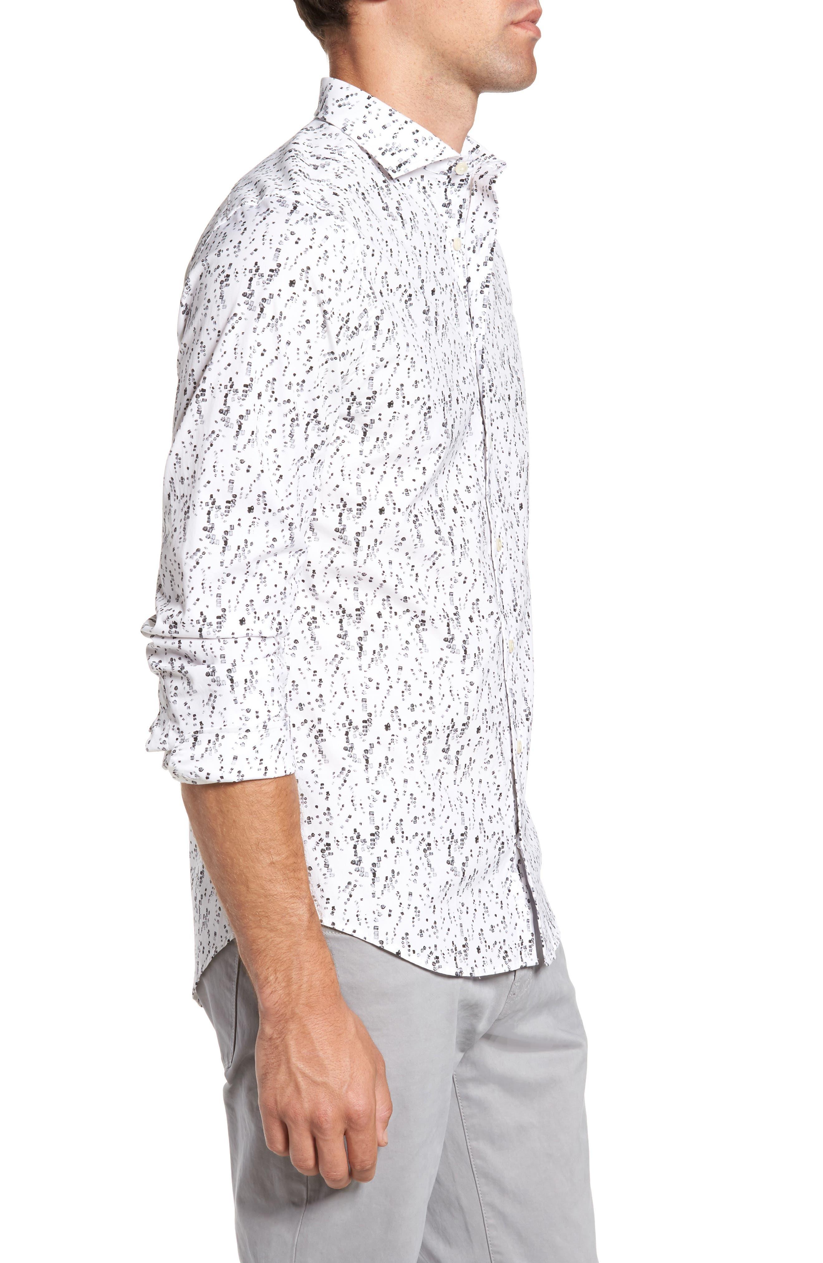 Alternate Image 3  - Gant Slim Fit Crushed Ice Print Sport Shirt