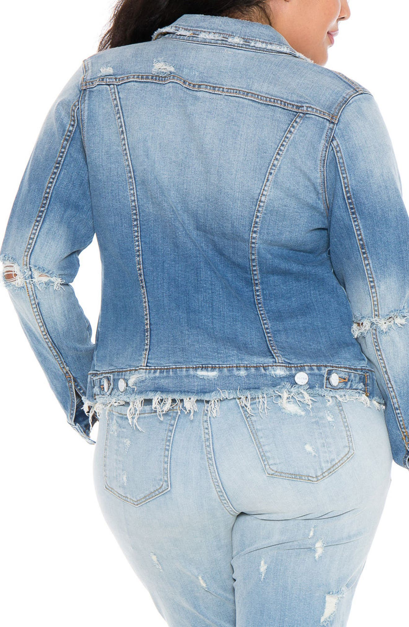 Denim Jacket,                             Alternate thumbnail 2, color,                             Keziah