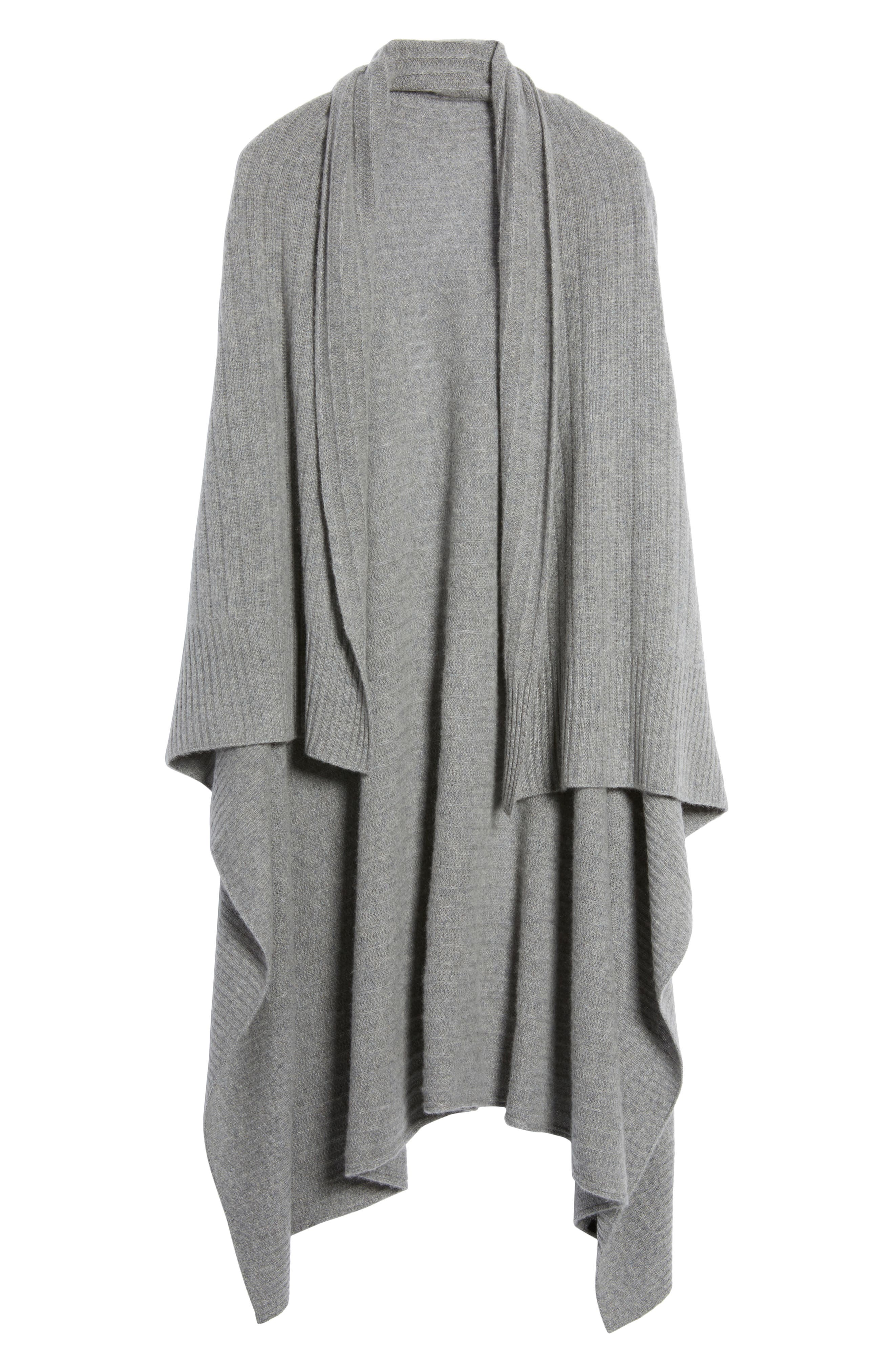 Cashmere Wrap,                             Alternate thumbnail 5, color,                             Grey Med Htr