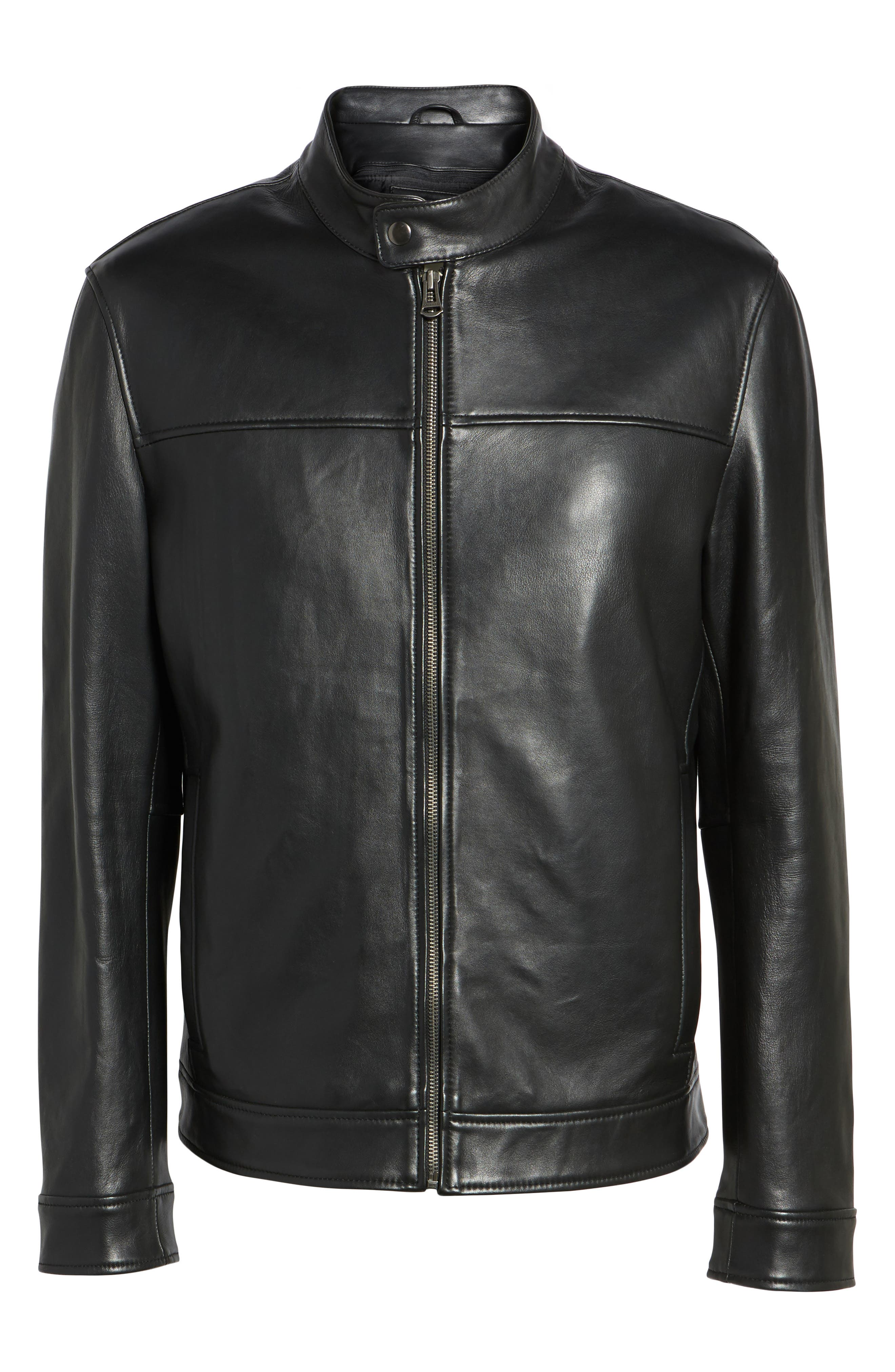 Alternate Image 6  - Cole Haan Bonded Leather Moto Jacket