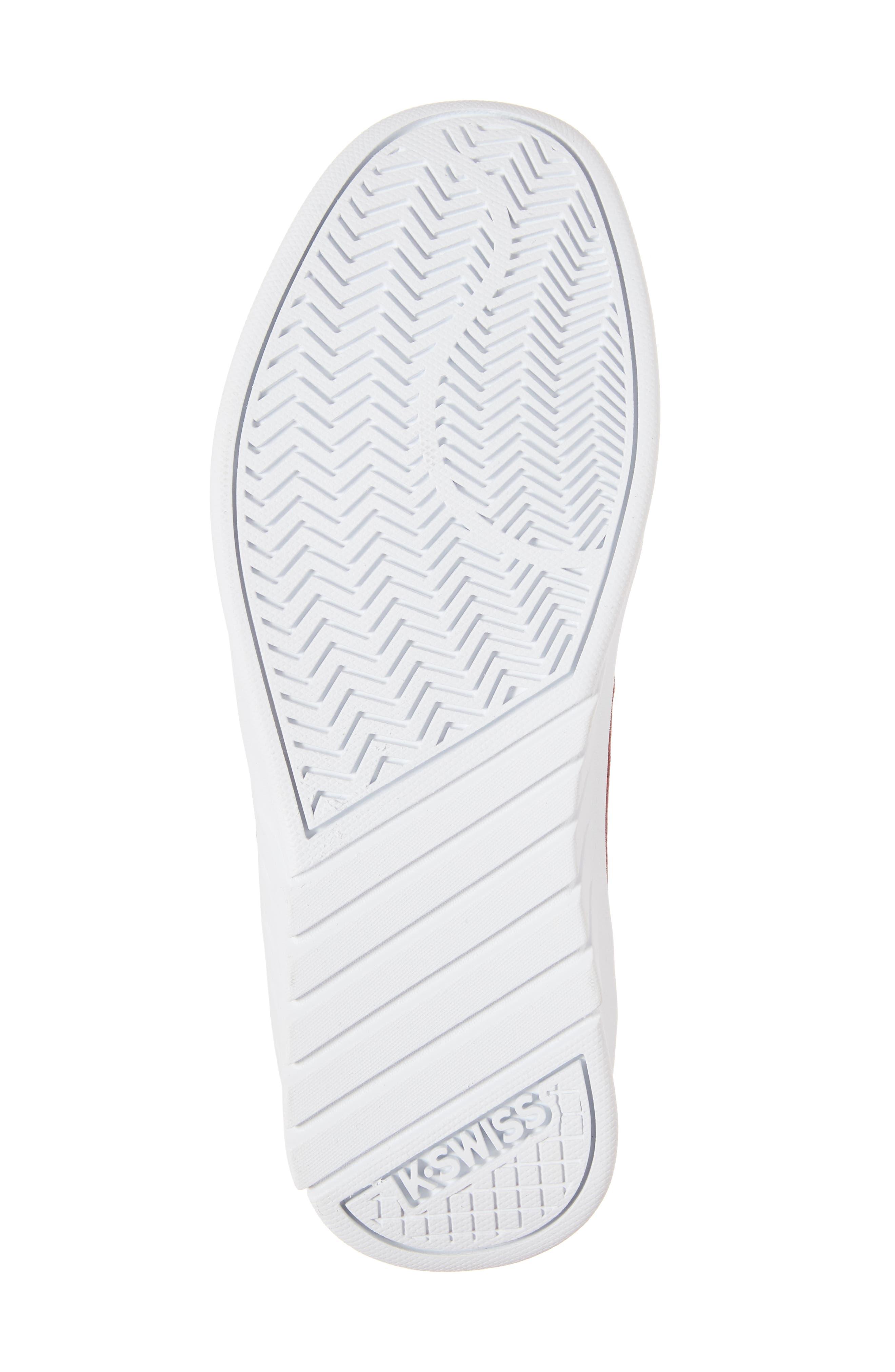 Aero Trainer T Sneaker,                             Alternate thumbnail 6, color,                             Tibetan Red/ White