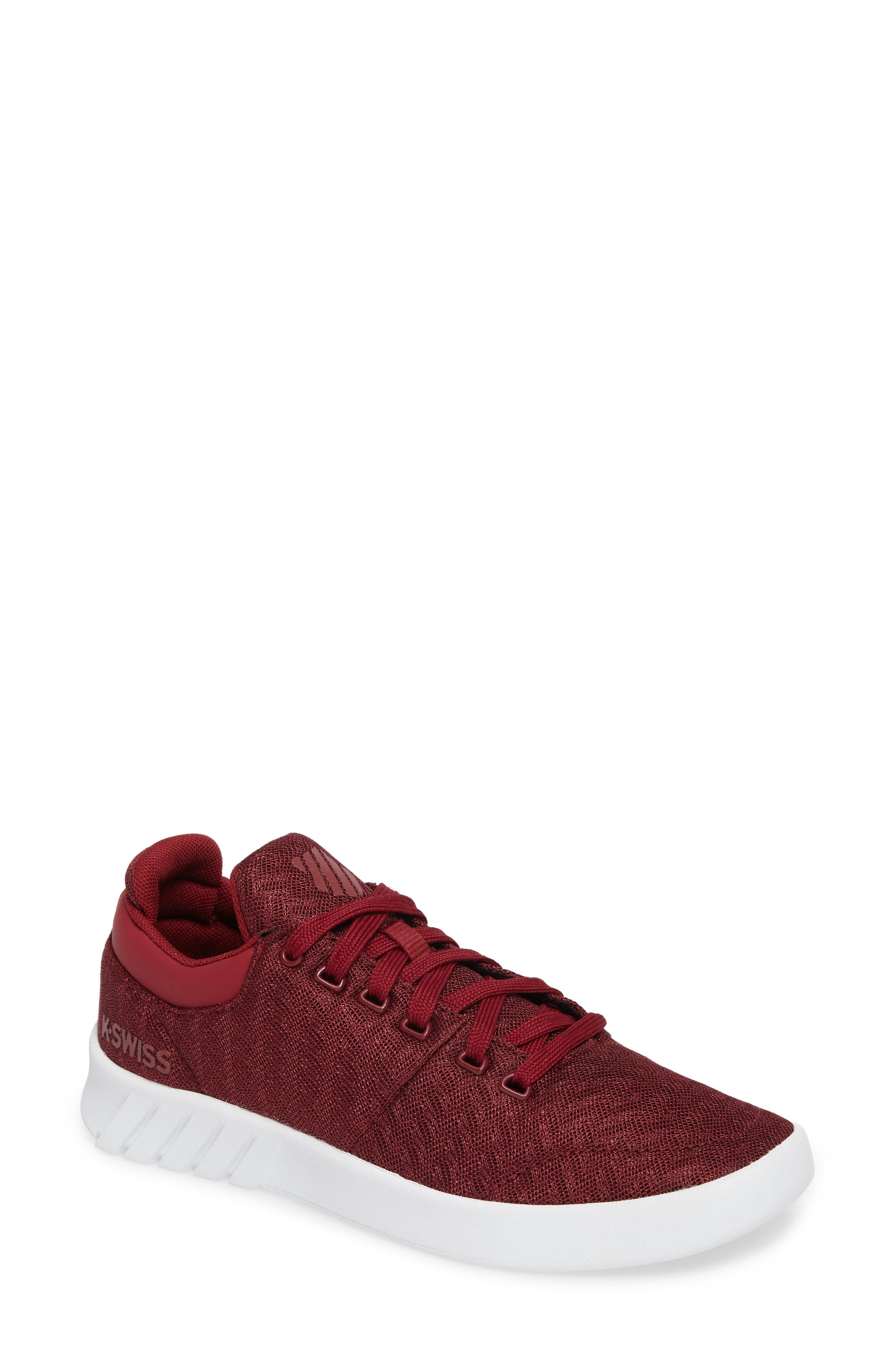 Aero Trainer T Sneaker,                         Main,                         color, Tibetan Red/ White