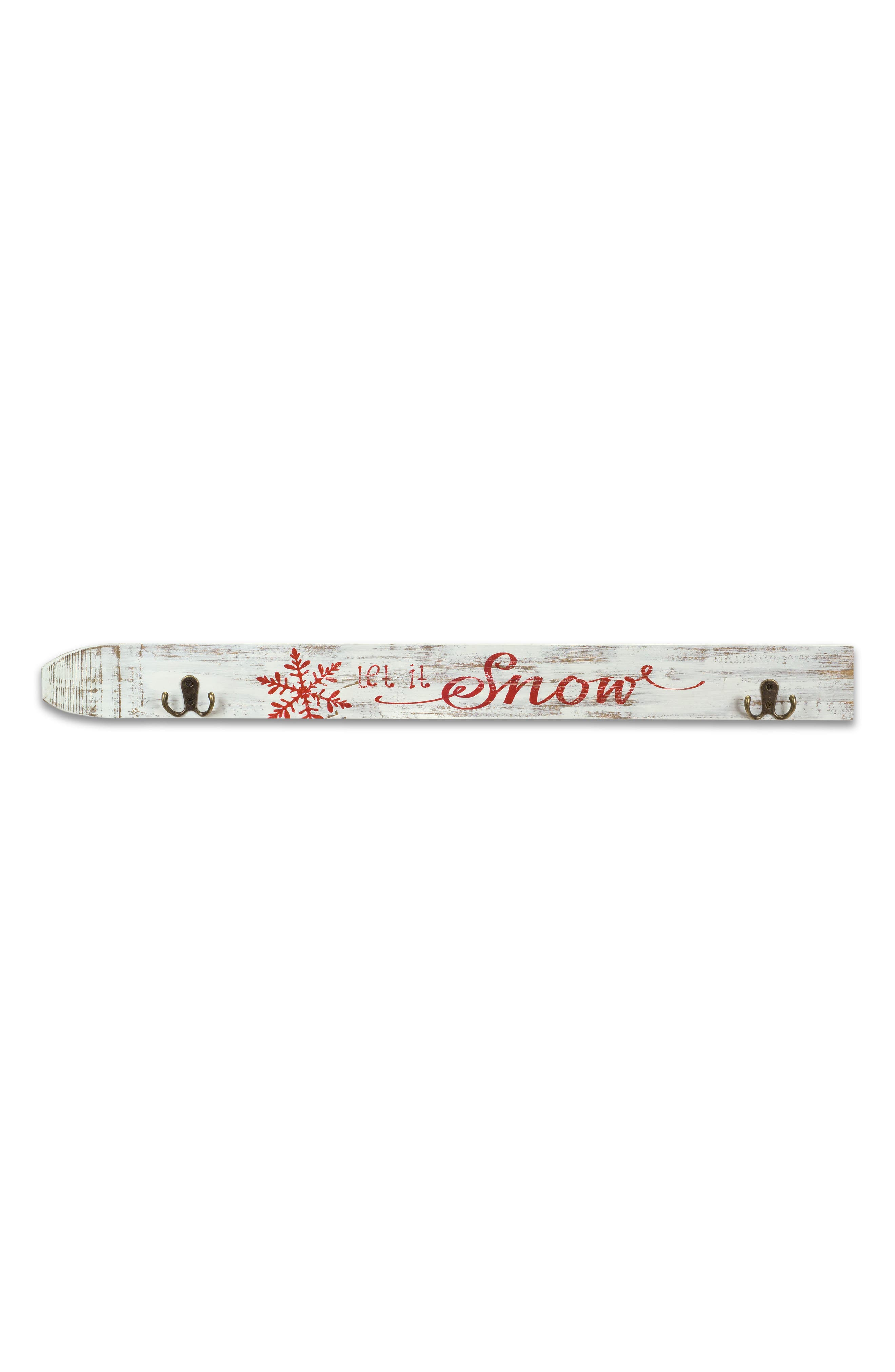 Alternate Image 1 Selected - Melrose Gifts Let It Snow Wall Sign with Hooks