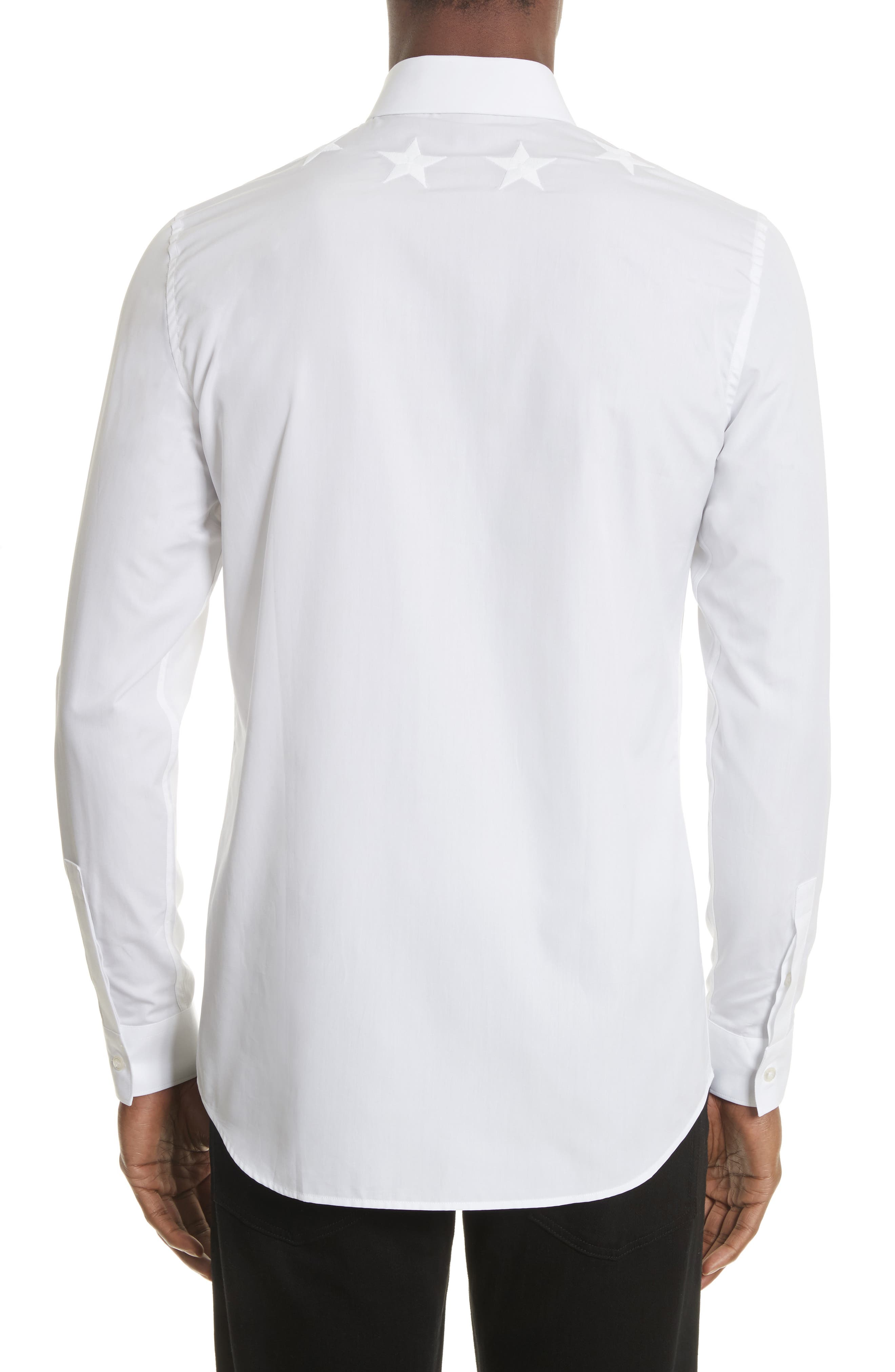 Givenchy long sleeve sport shirt with tonal star armband for Givenchy 5 star shirt