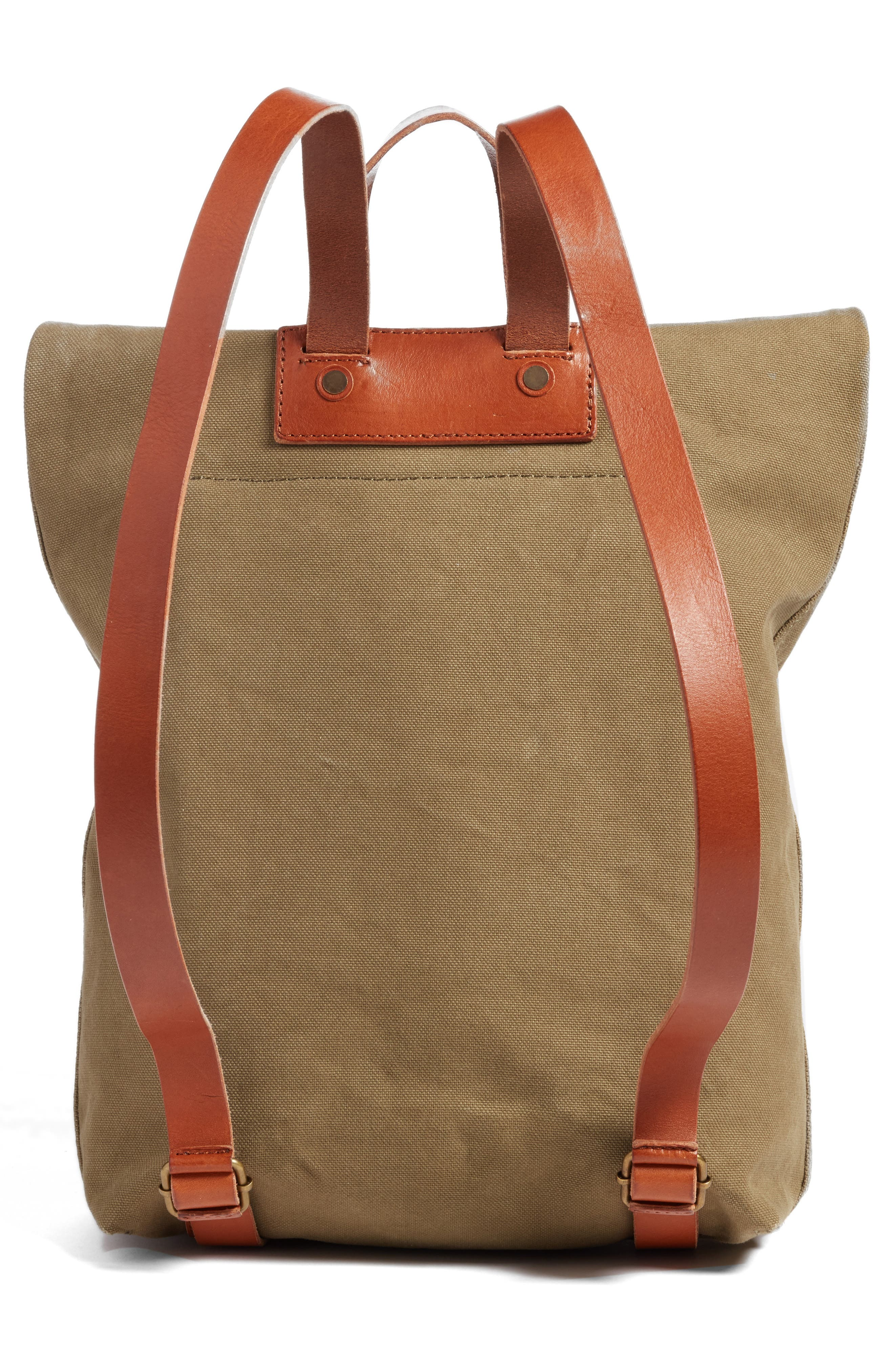The Canvas Foldover Backpack,                             Alternate thumbnail 3, color,                             British Surplus