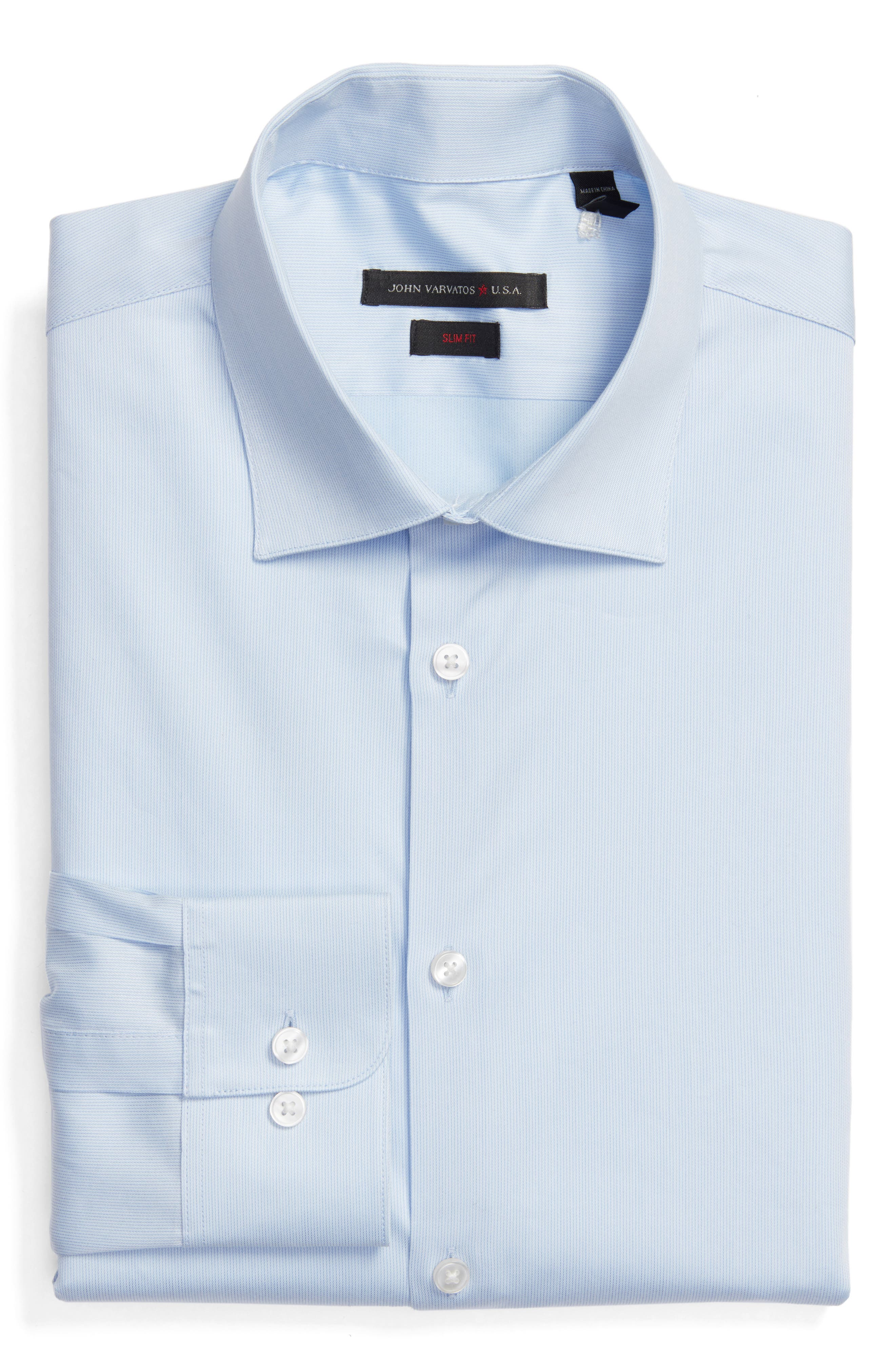 John Varvatos Star USA Slim Fit Stripe Stretch Dress Shirt