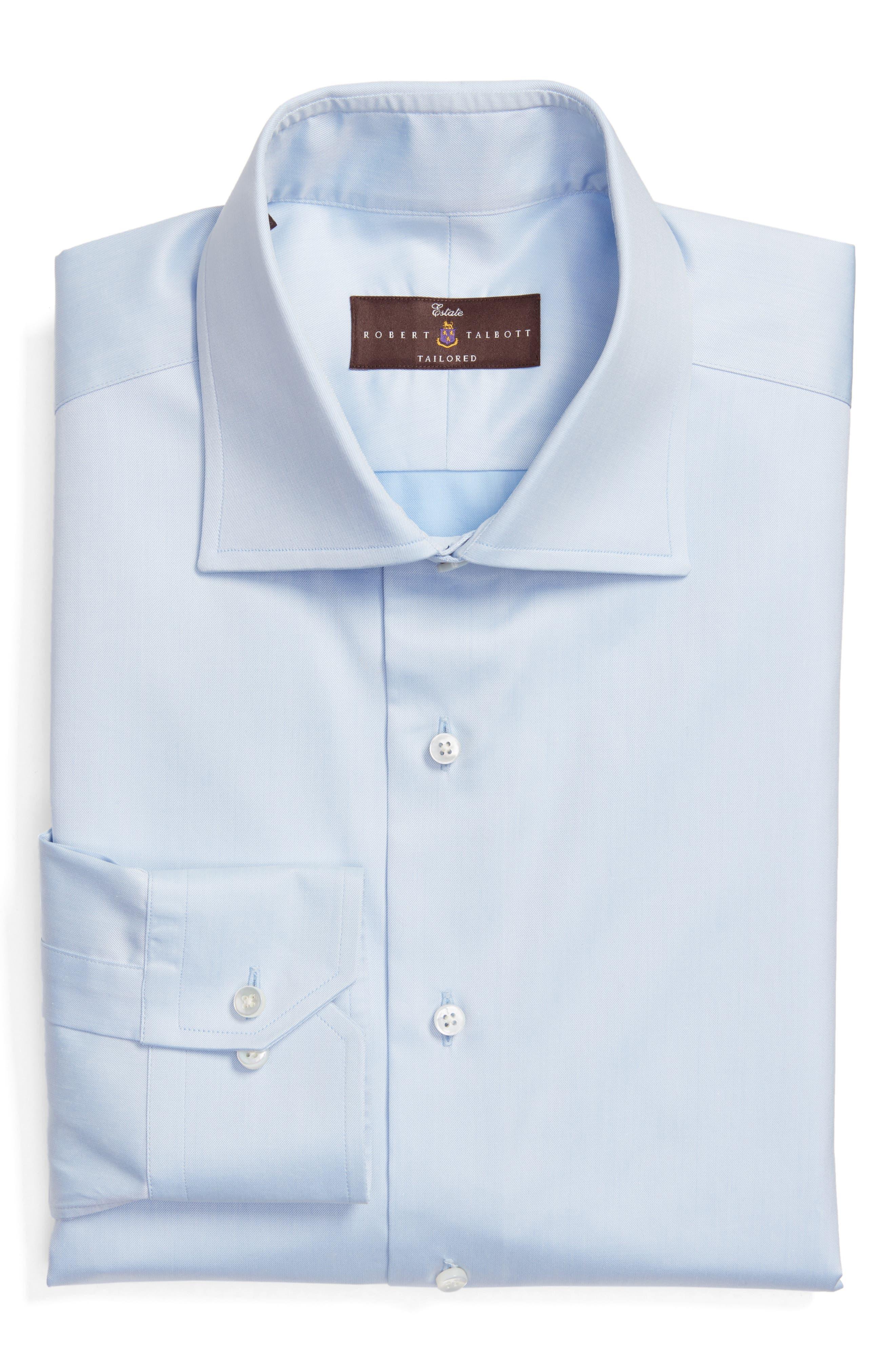 Robert Talbott Tailored Fit Solid Dress Shirt
