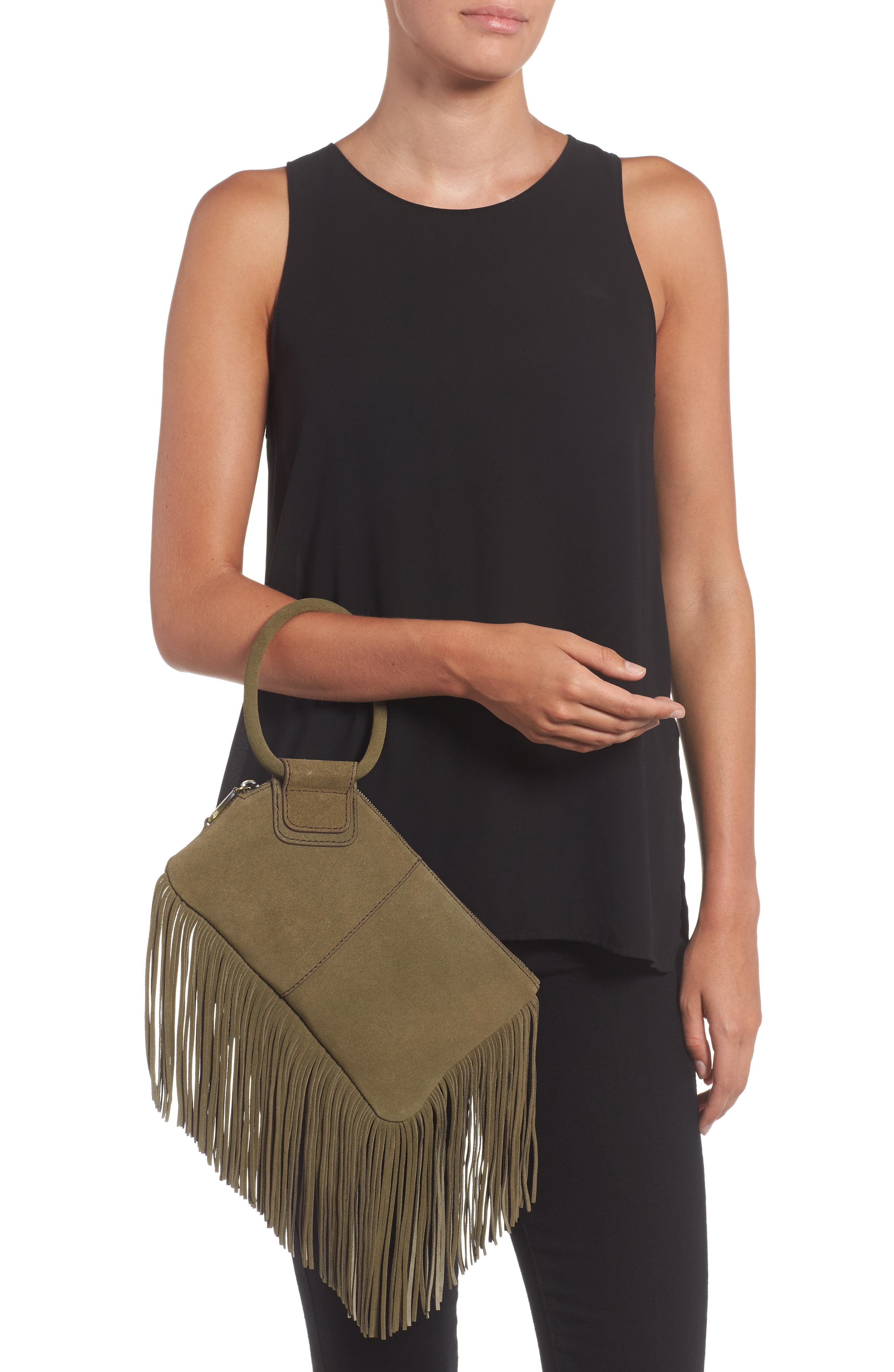Alternate Image 2  - Hobo Sable Leather Clutch