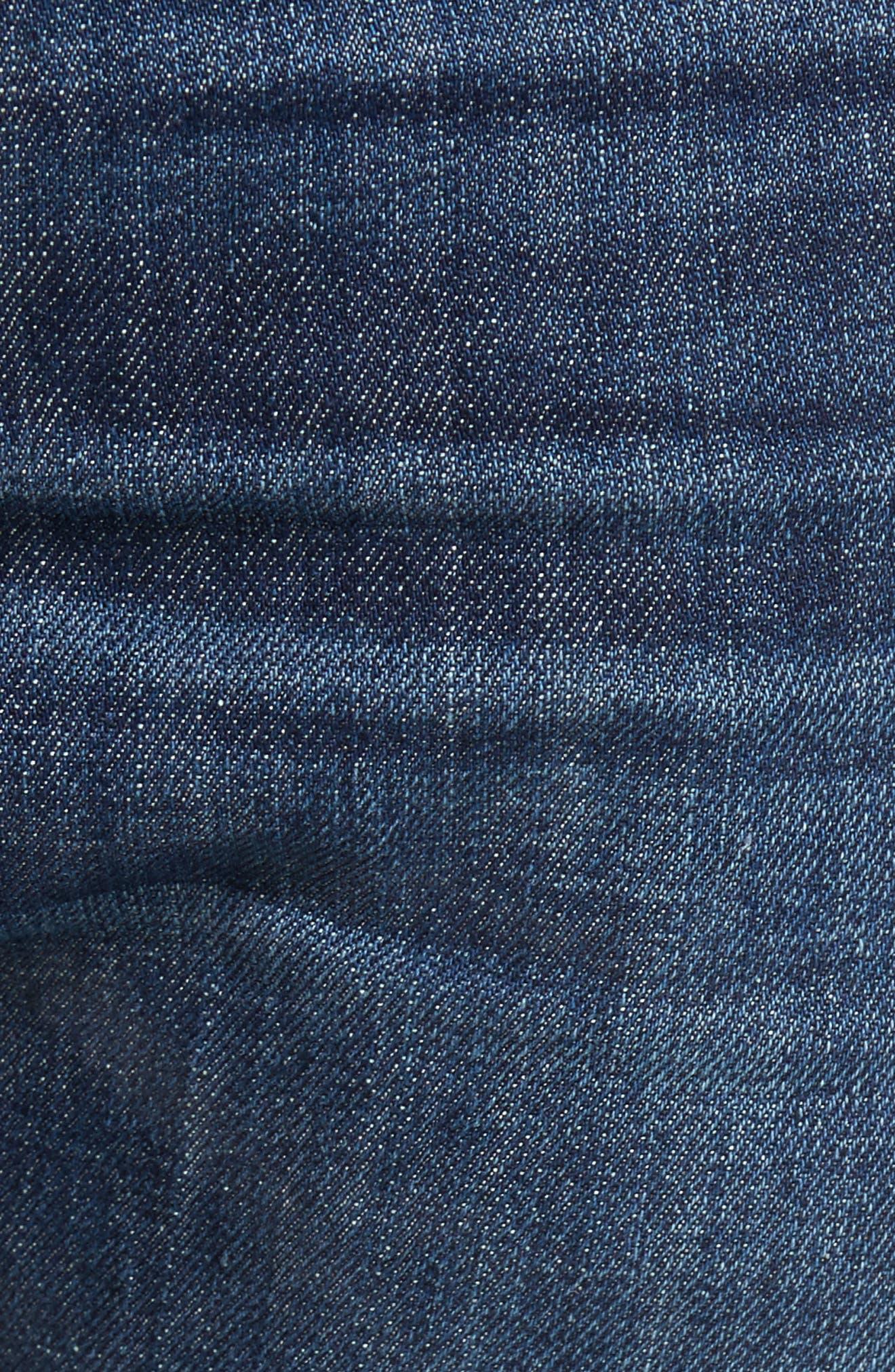 Slim Straight Leg Jeans,                             Alternate thumbnail 5, color,                             Hull Blue