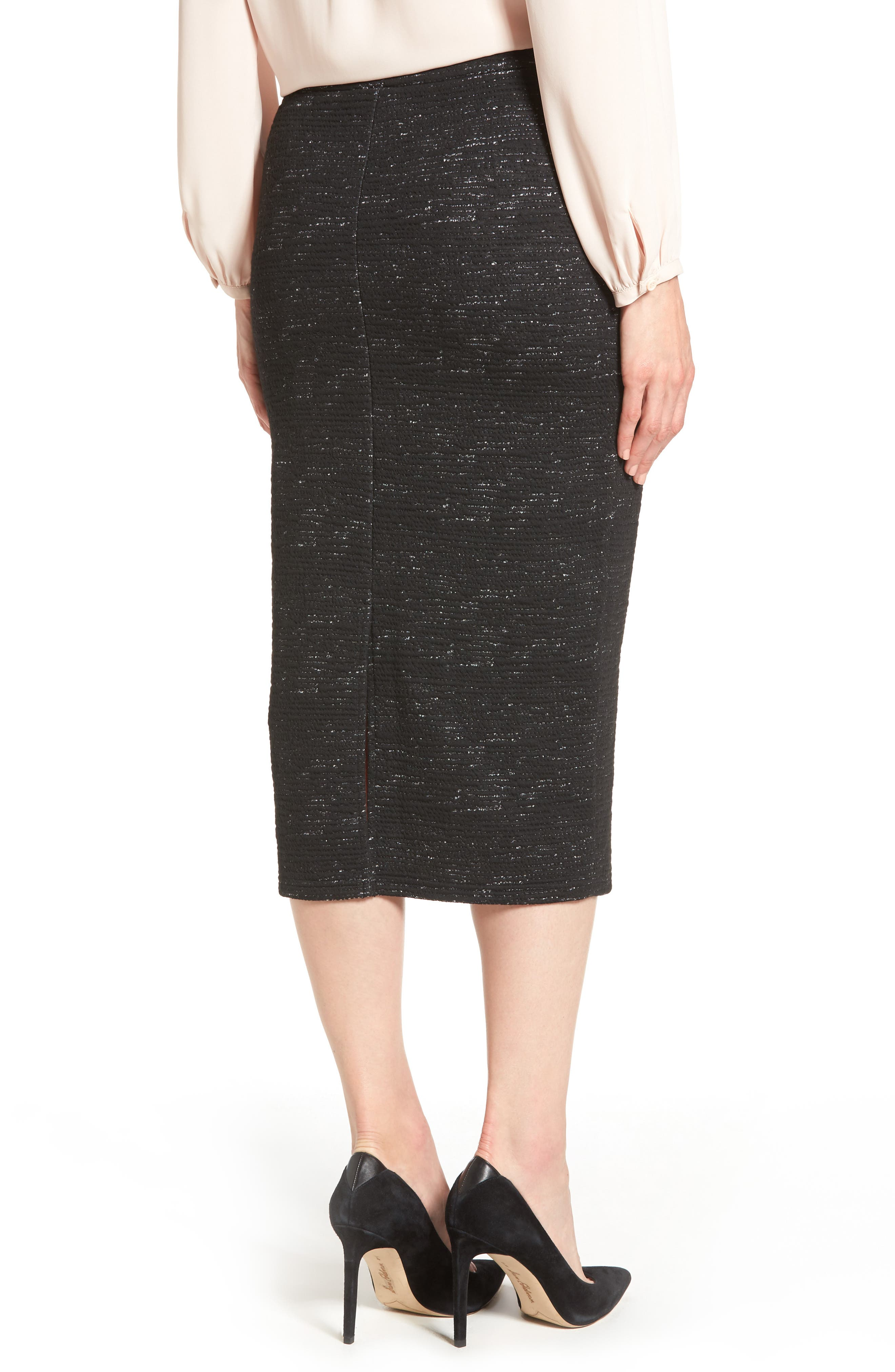 Alternate Image 2  - Halogen® Jacquard Pencil Skirt