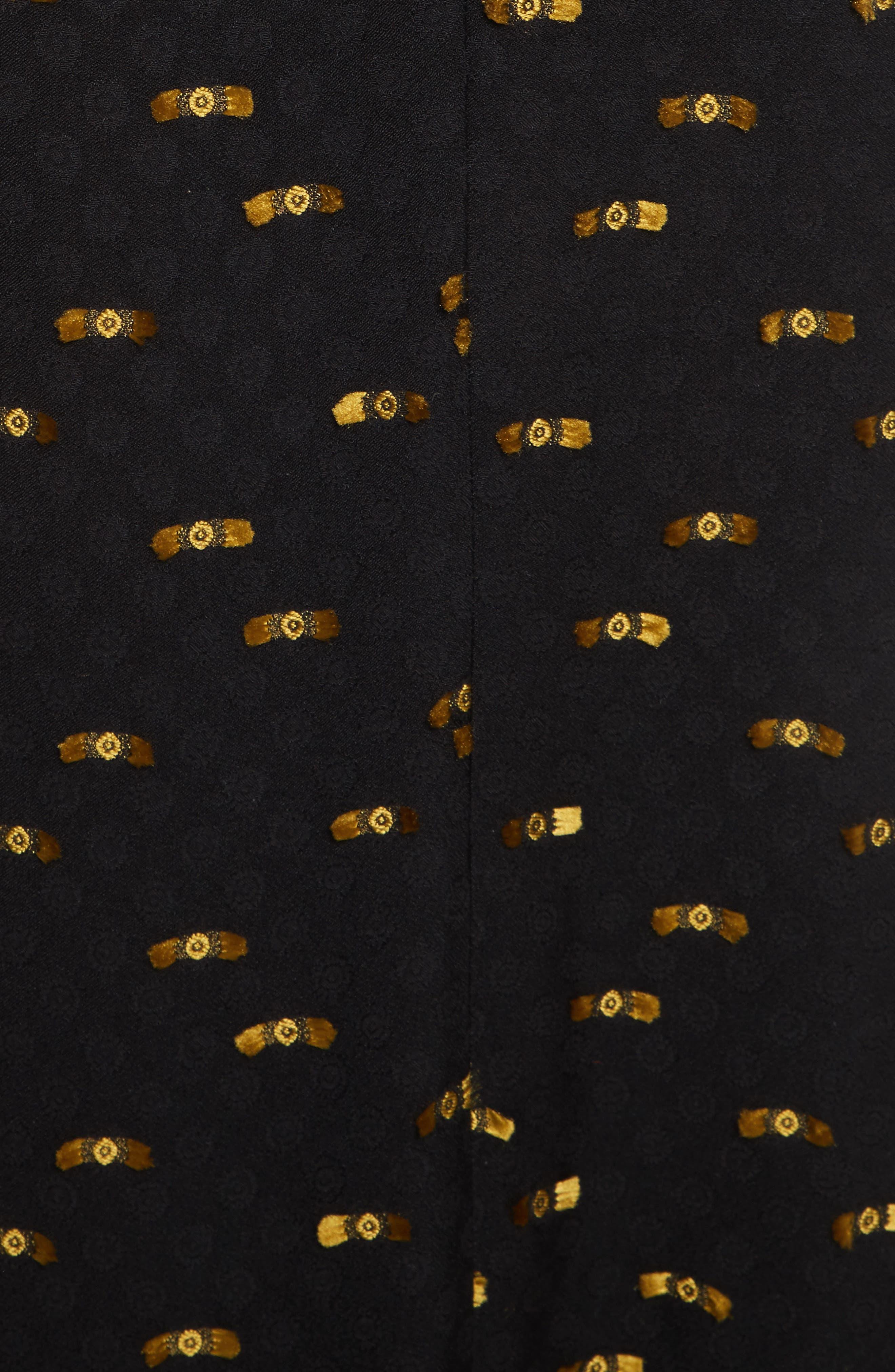 Catch Crepe Maxi Dress,                             Alternate thumbnail 5, color,                             Black