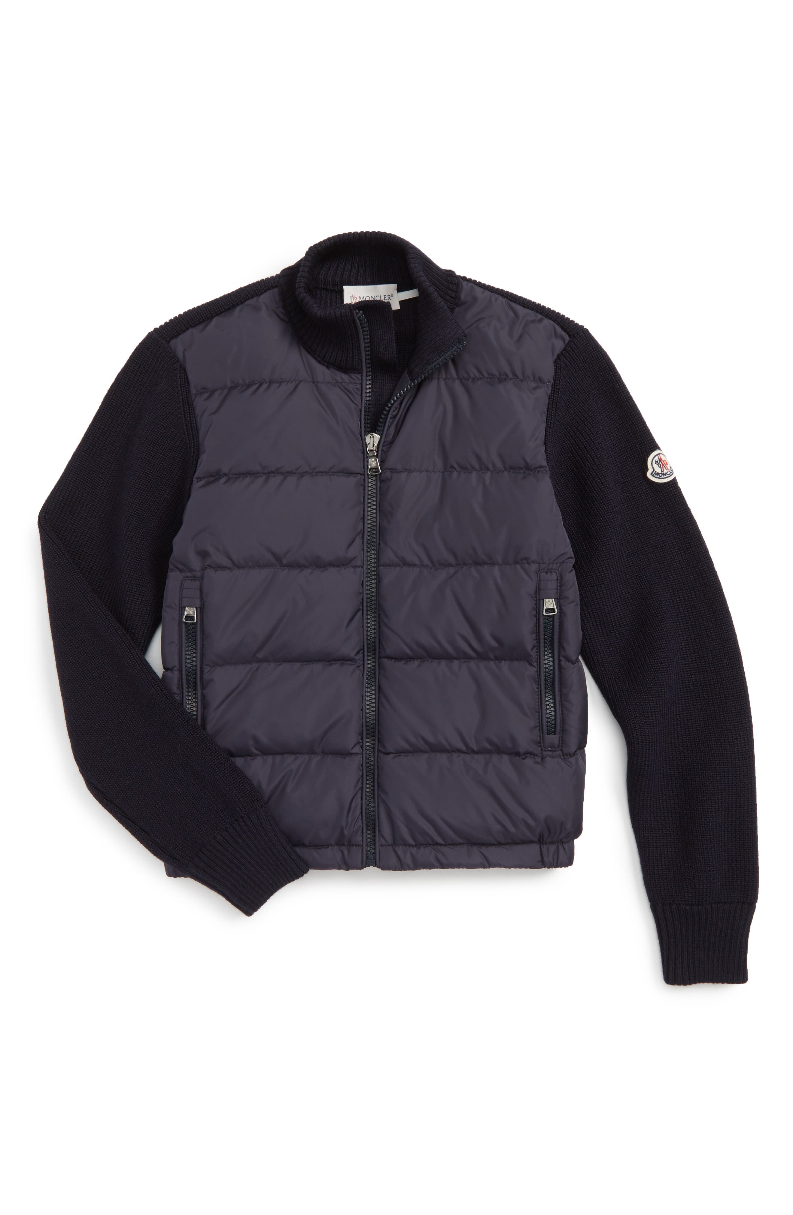 Moncler Quilted Down Sweater Jacket (Big Boys)