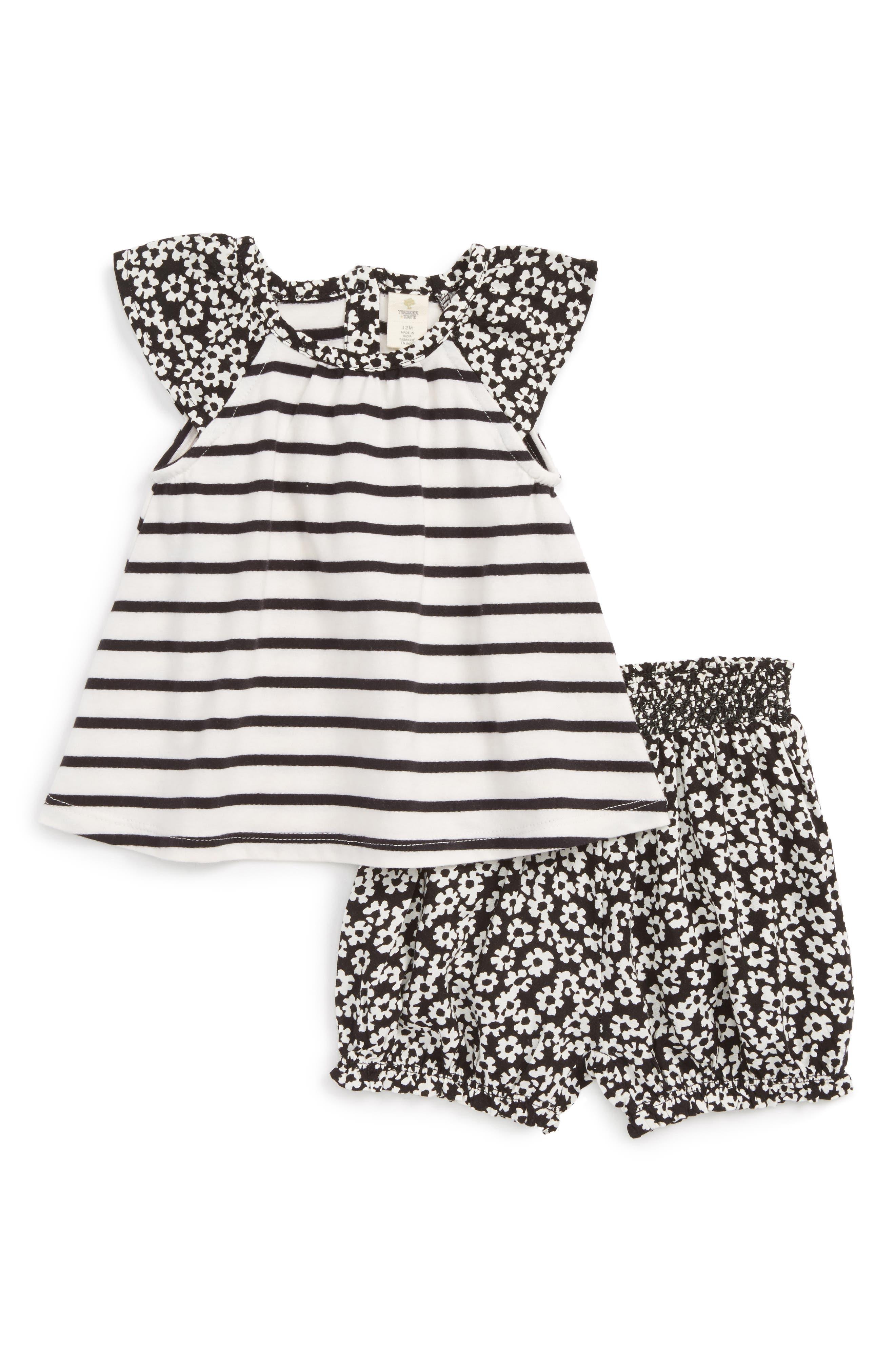 Tucker + Tate Tee & Shorts Set (Baby Girls)