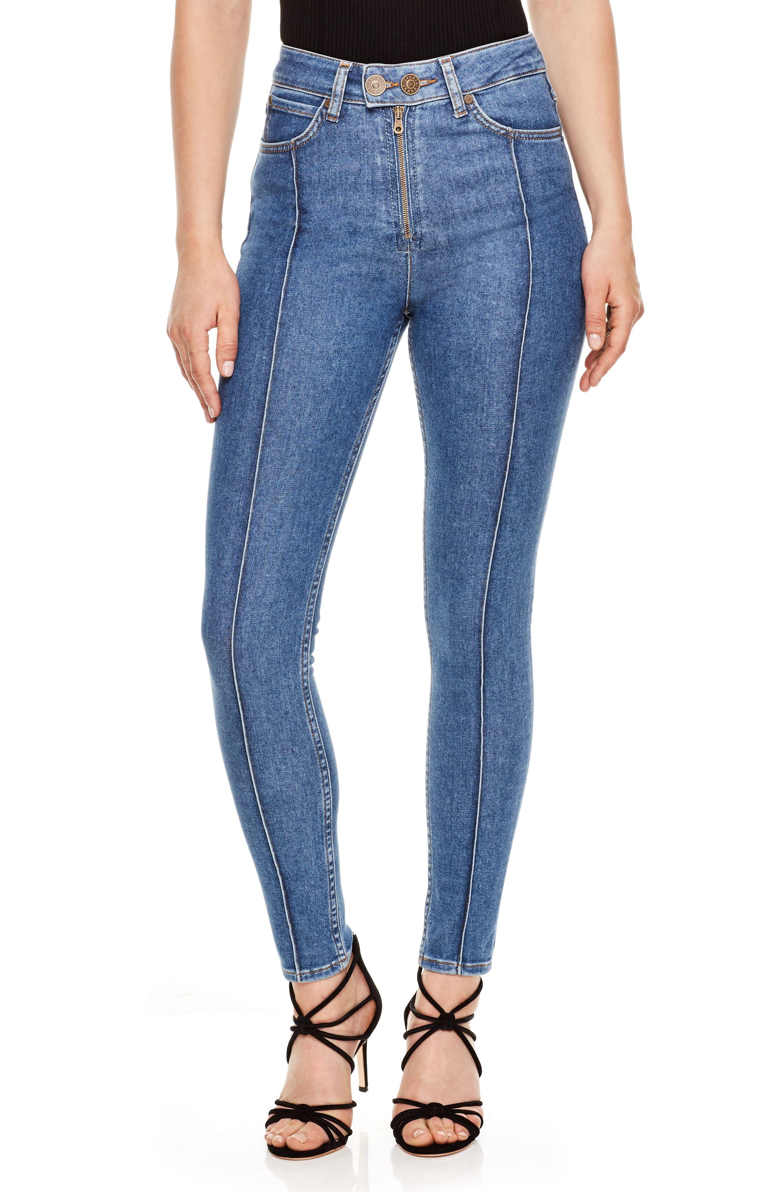 High Waist Skinny Jeans,                         Main,                         color, Blue Vintage - Denim