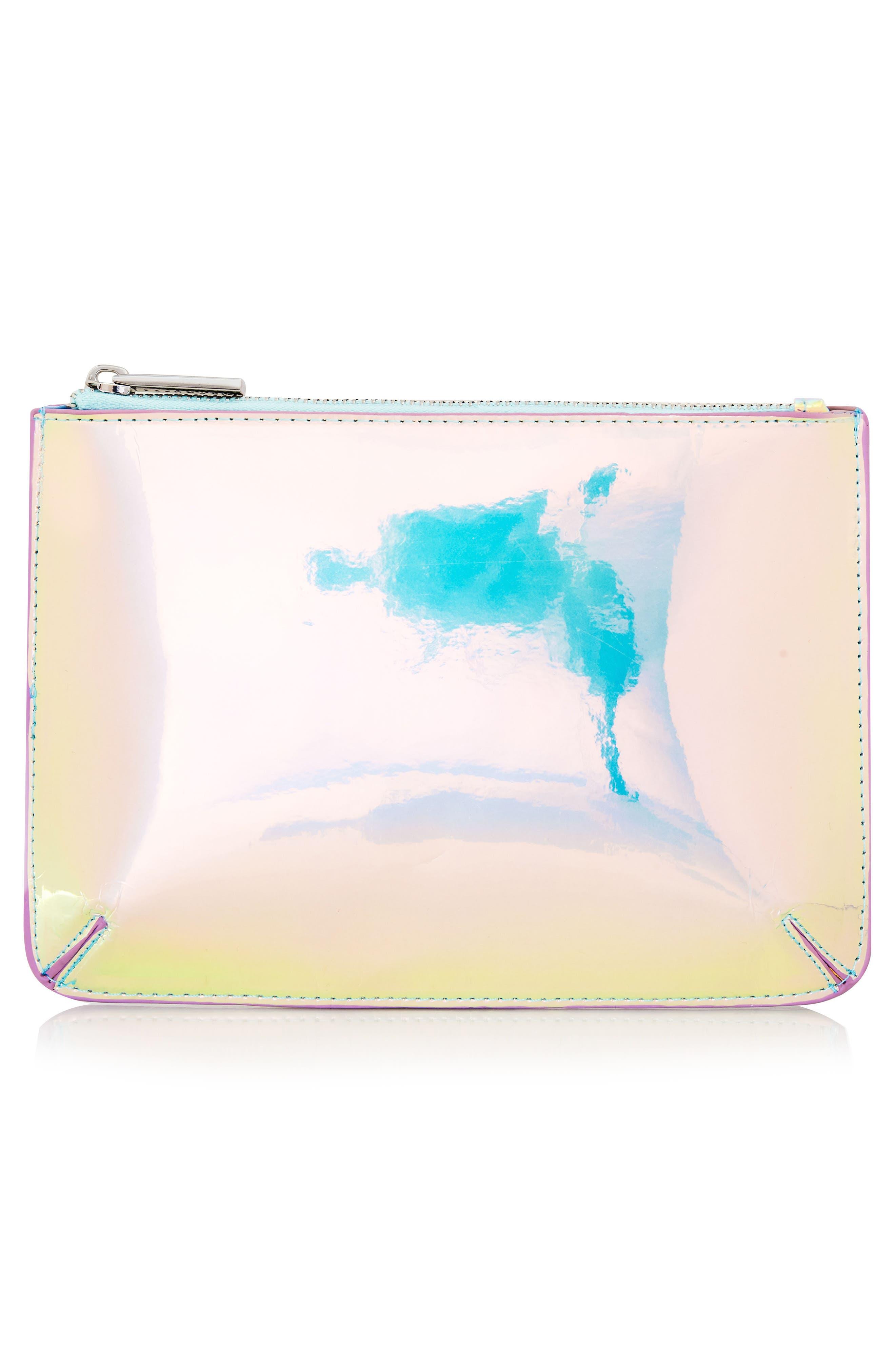 Skinny Dip Ocean Makeup Bag,                             Alternate thumbnail 3, color,                             No Color
