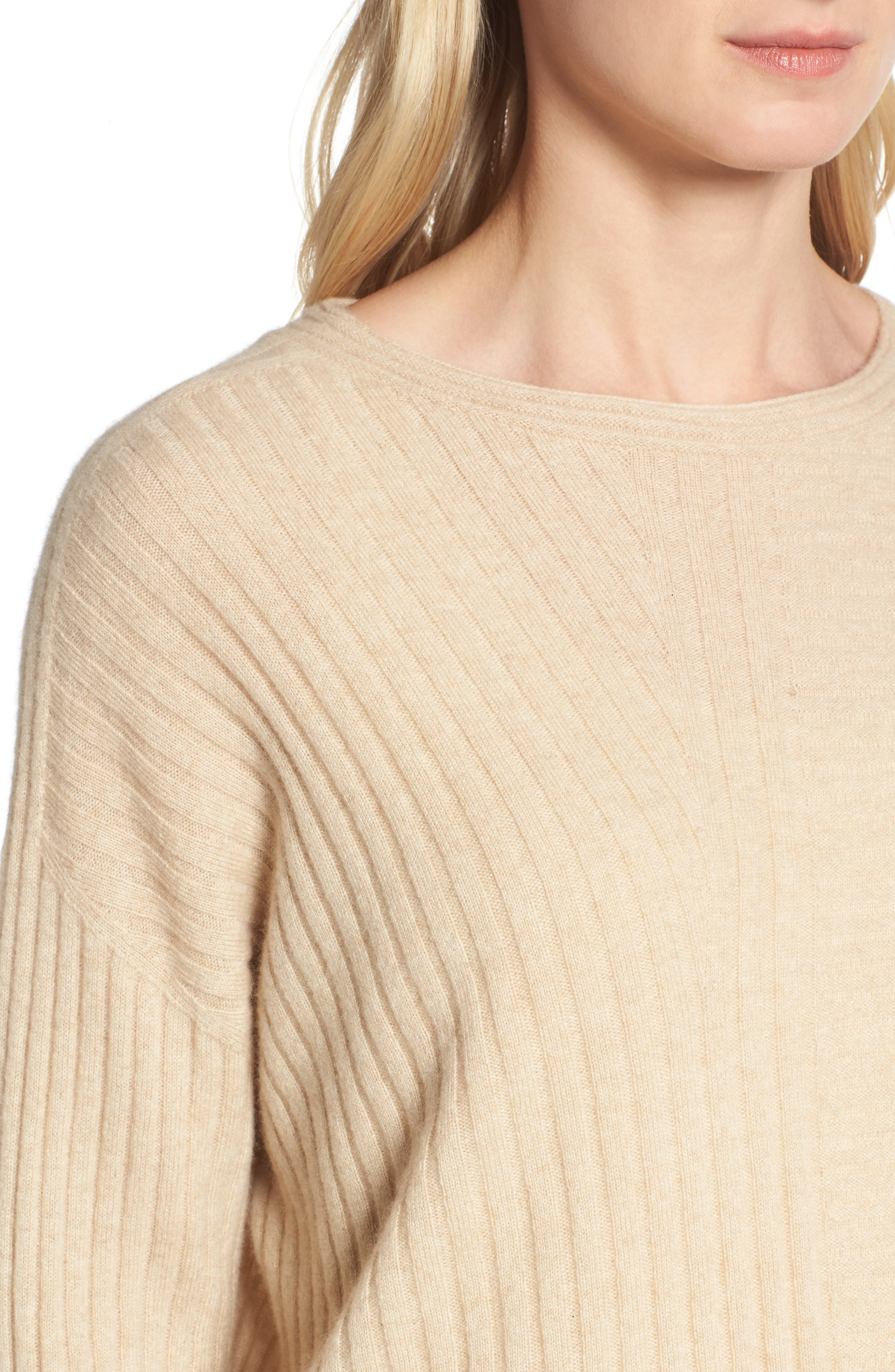 Alternate Image 4  - Eileen Fisher Ribbed Cashmere Sweater