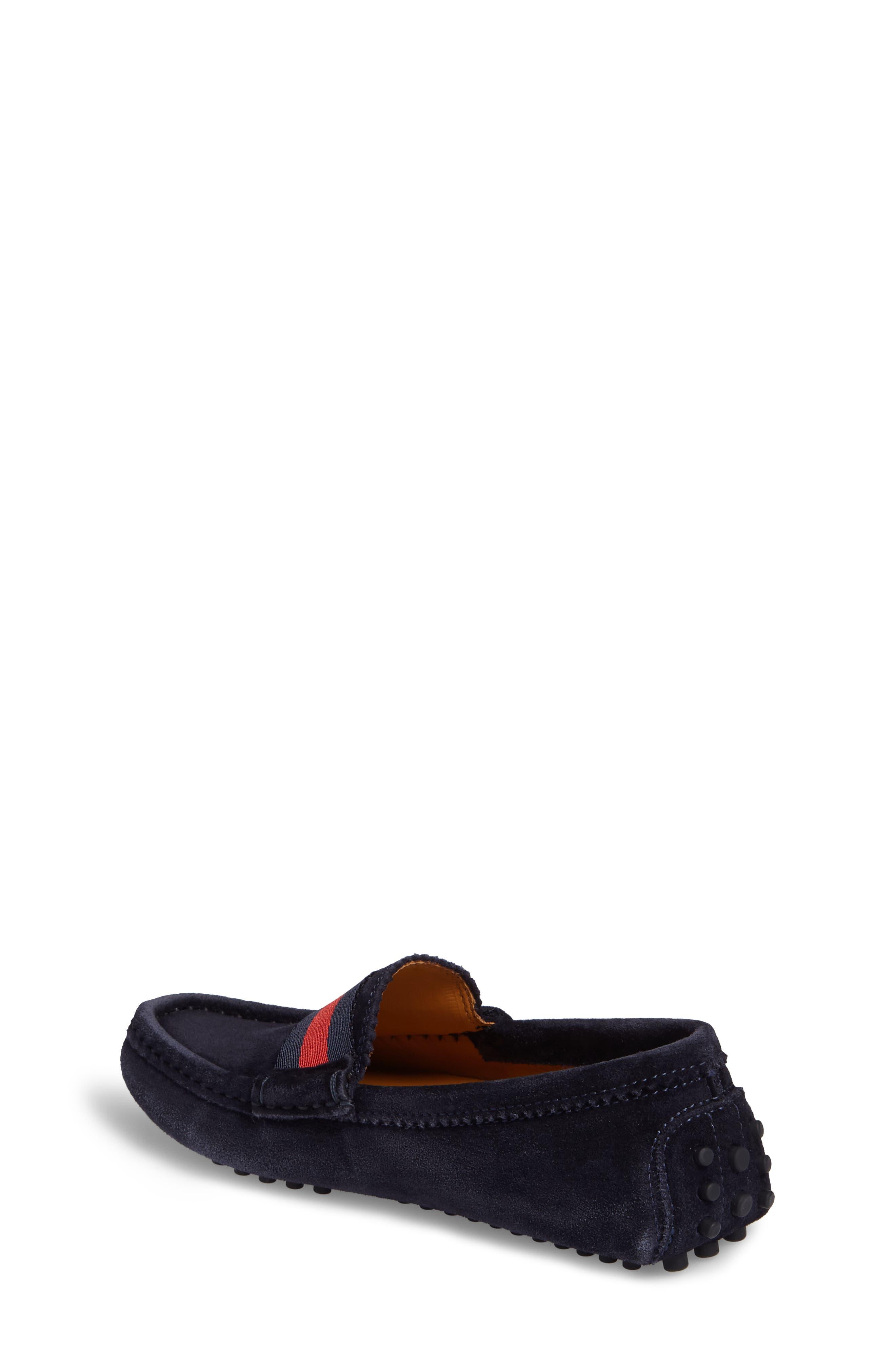 Dandy Junior Driving Shoe,                             Alternate thumbnail 2, color,                             Blue Suede