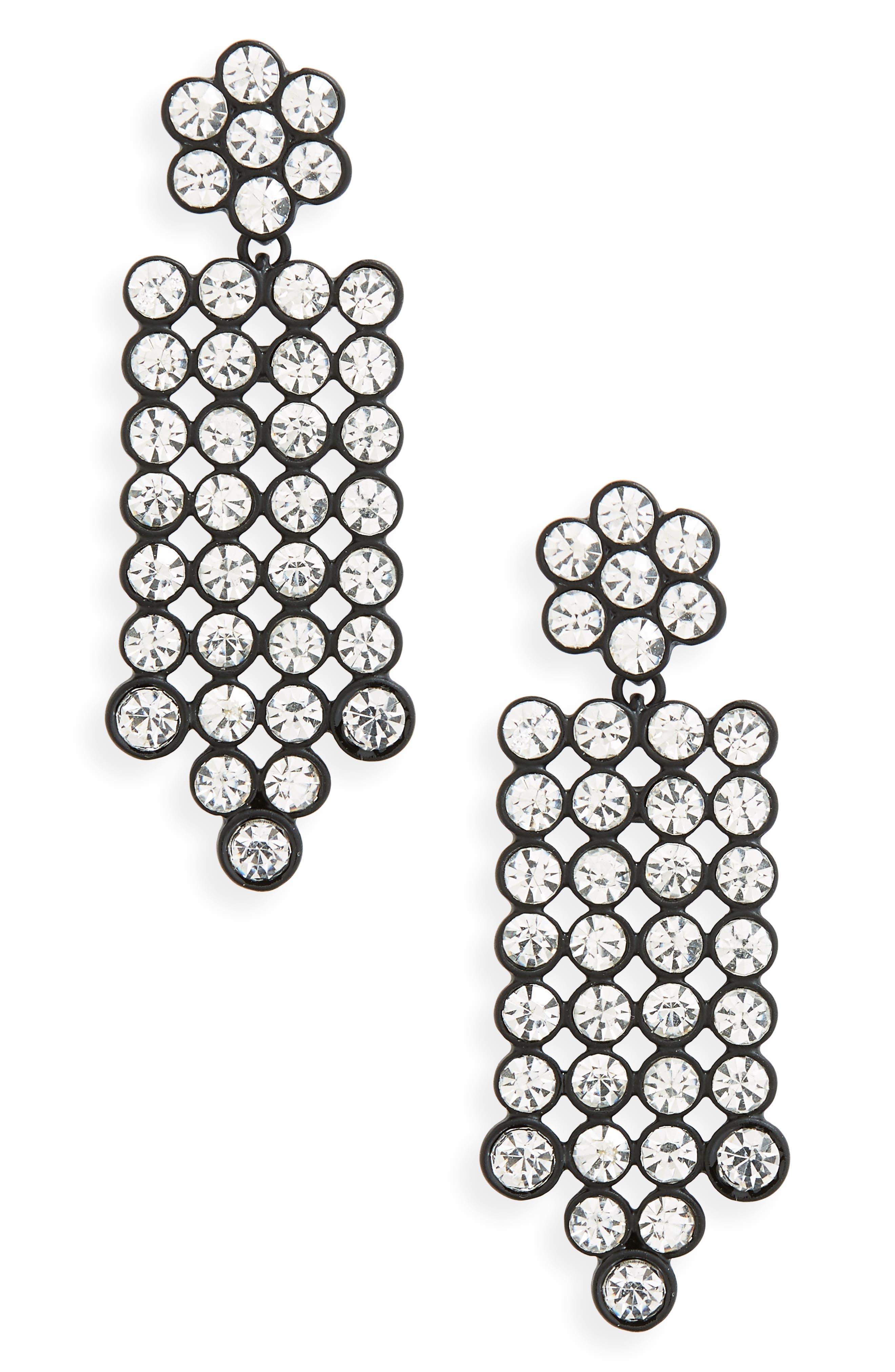 Disco Drop Earrings,                             Main thumbnail 1, color,                             Hematite