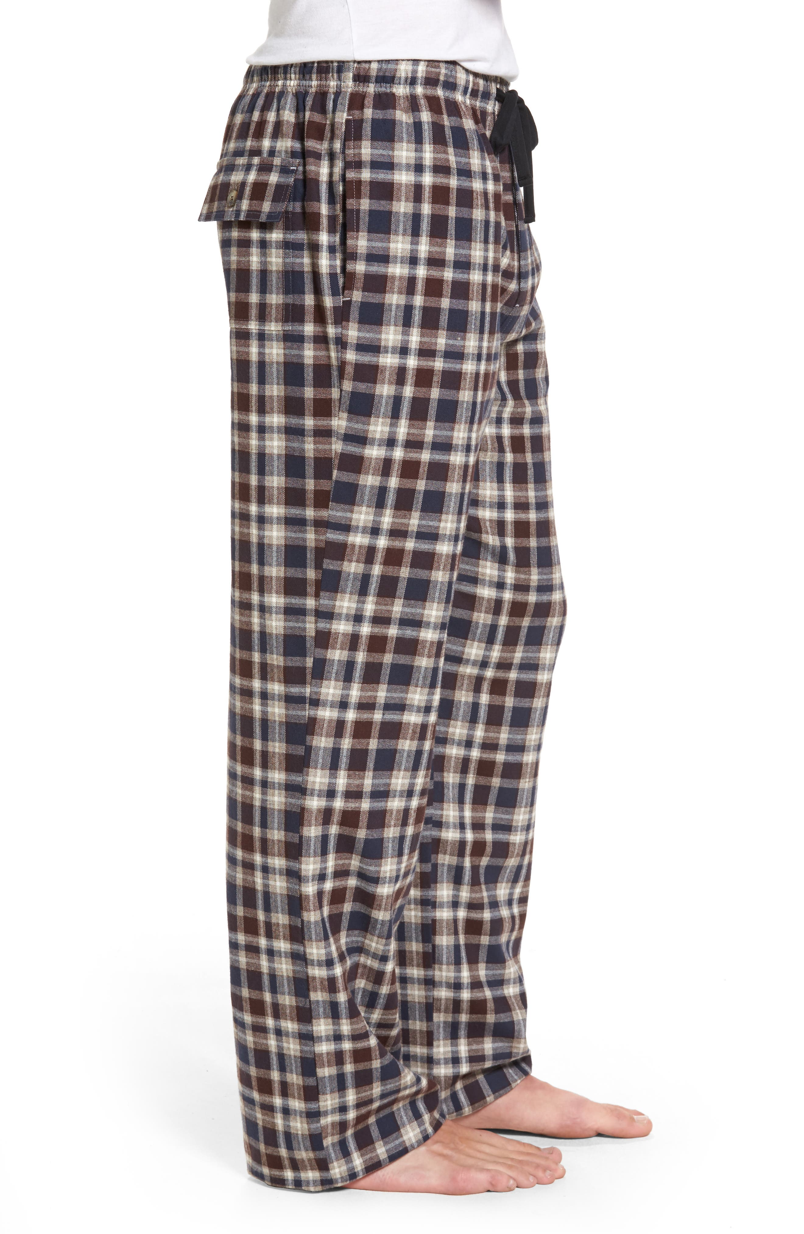 Alternate Image 3  - Majestic International Bryson Plaid Flannel Lounge Pants