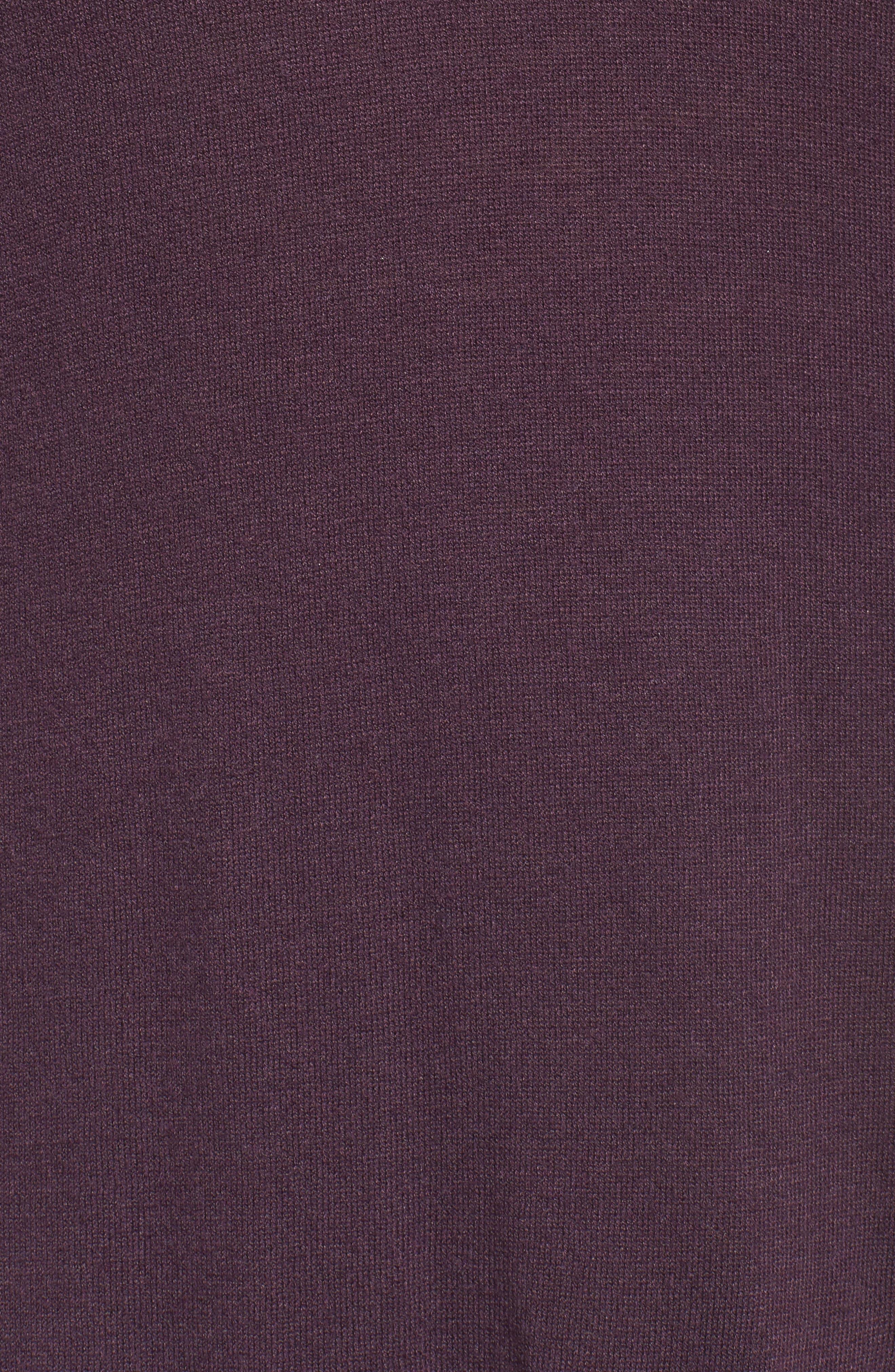 V-Neck Asymmetrical Tunic,                             Alternate thumbnail 5, color,                             Purple Plum