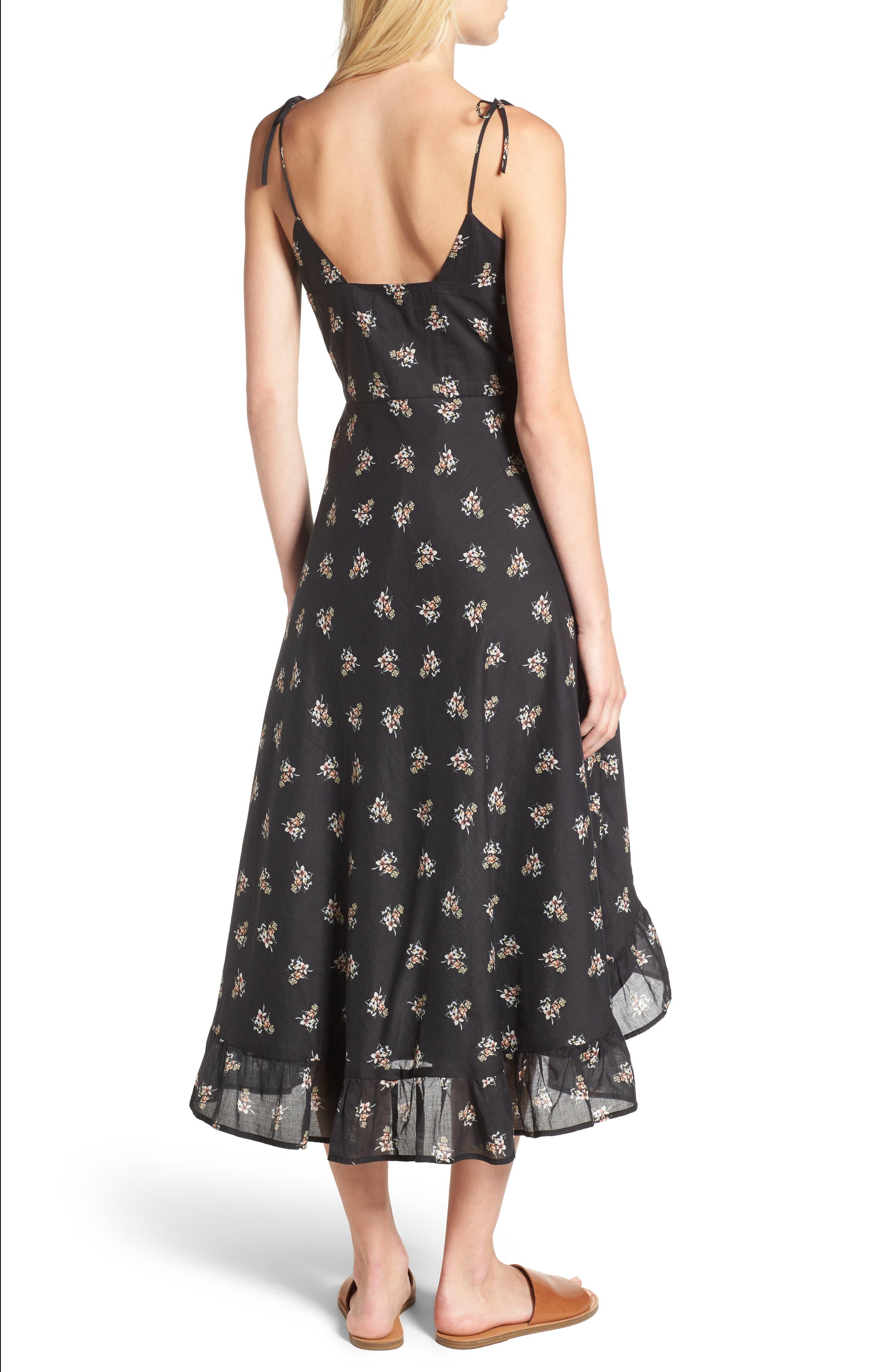 Regal Midi Dress,                             Alternate thumbnail 2, color,                             Isi Floral
