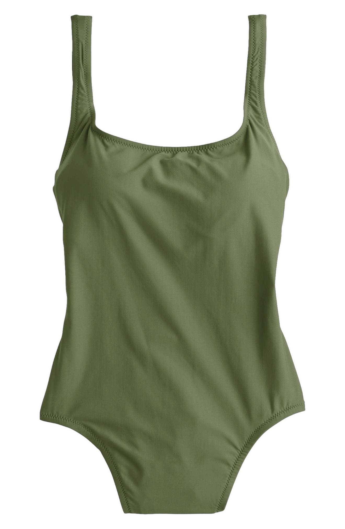 Tactel<sup>®</sup> Nylon One-Piece Swimsuit,                         Main,                         color, Safari