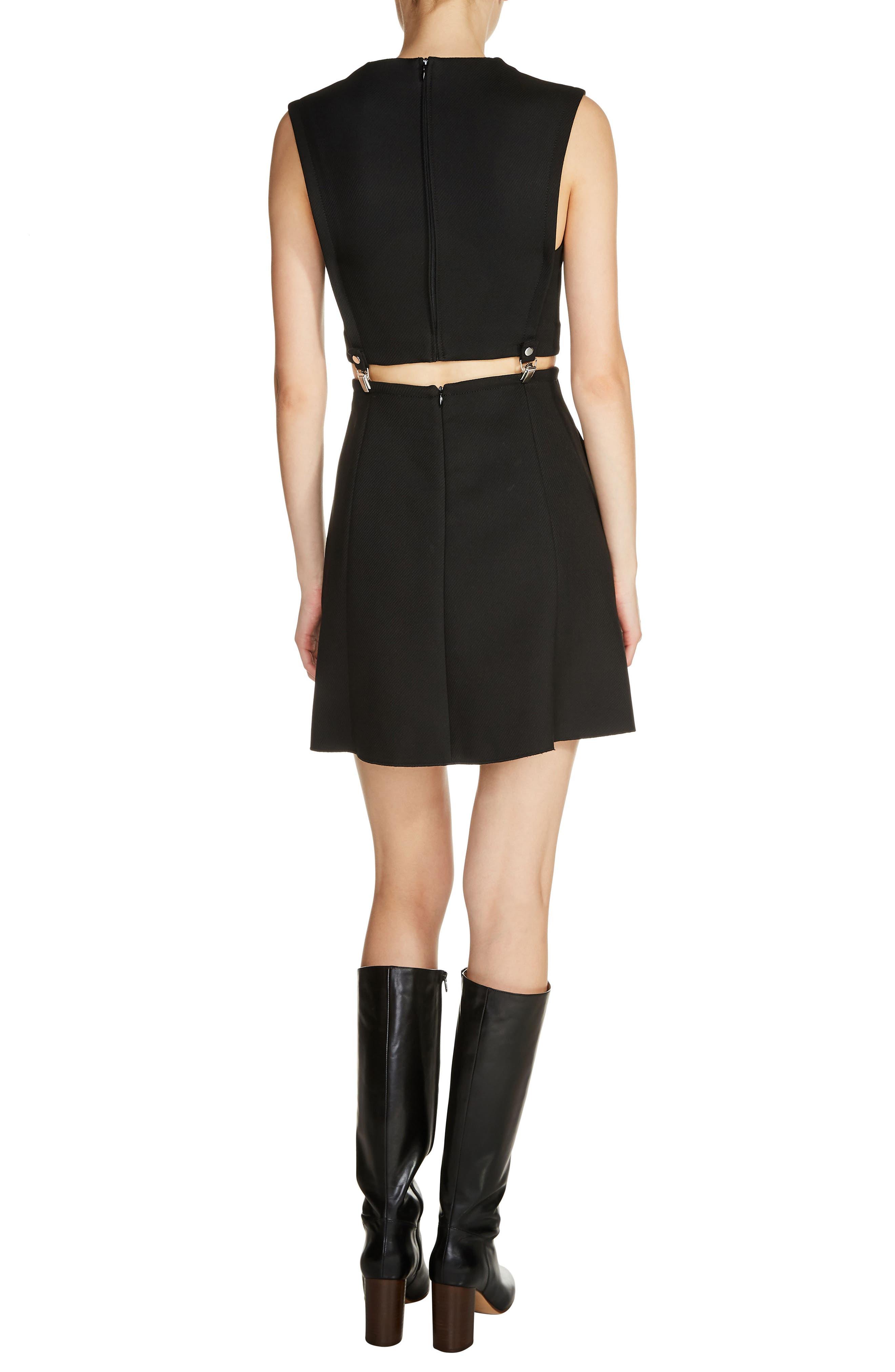 2-Piece Fit & Flare Dress,                             Alternate thumbnail 2, color,                             Black