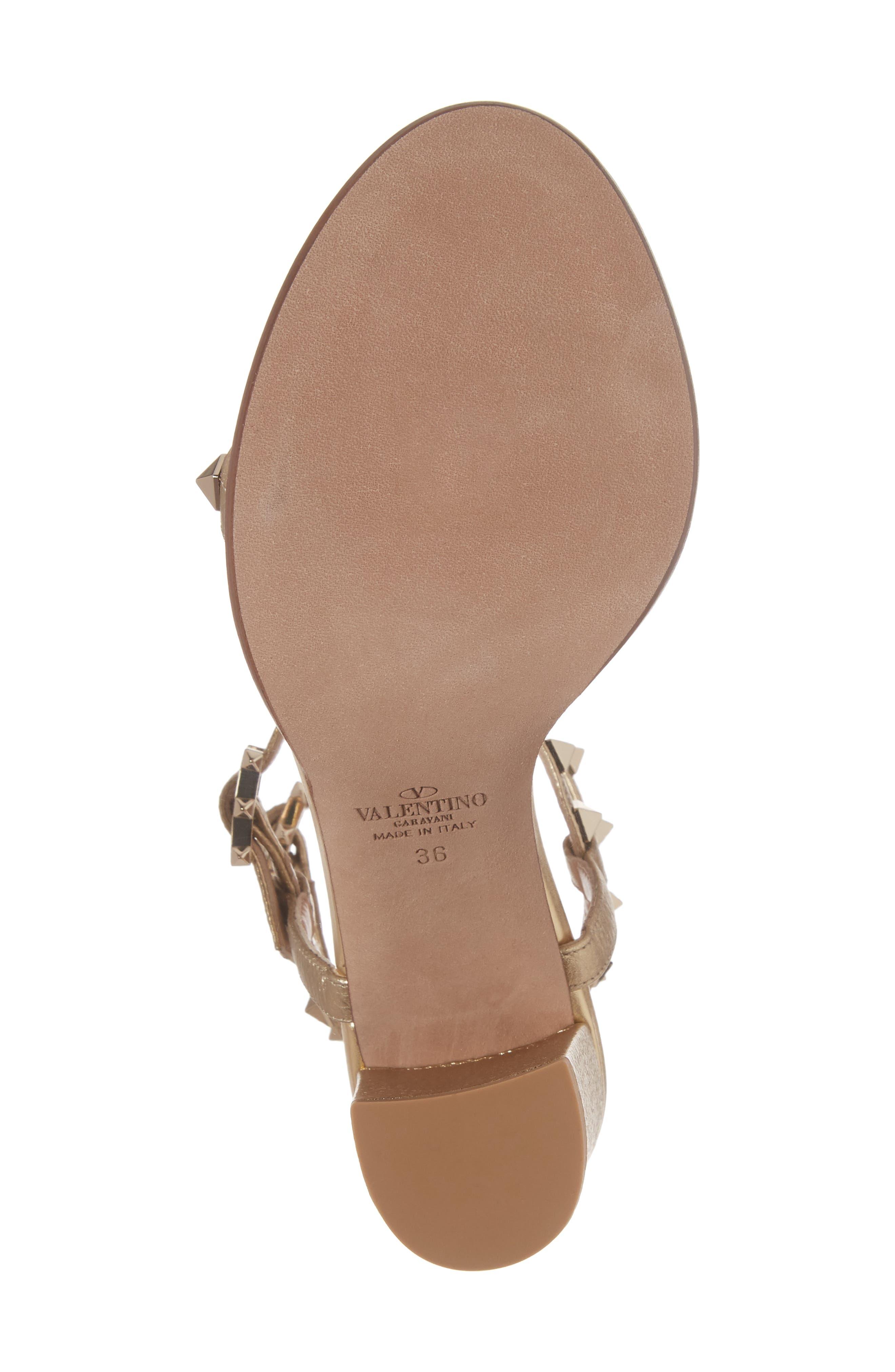 Alternate Image 6  - VALENTINO GARAVANI Rockstud Ankle Strap Sandal (Women)