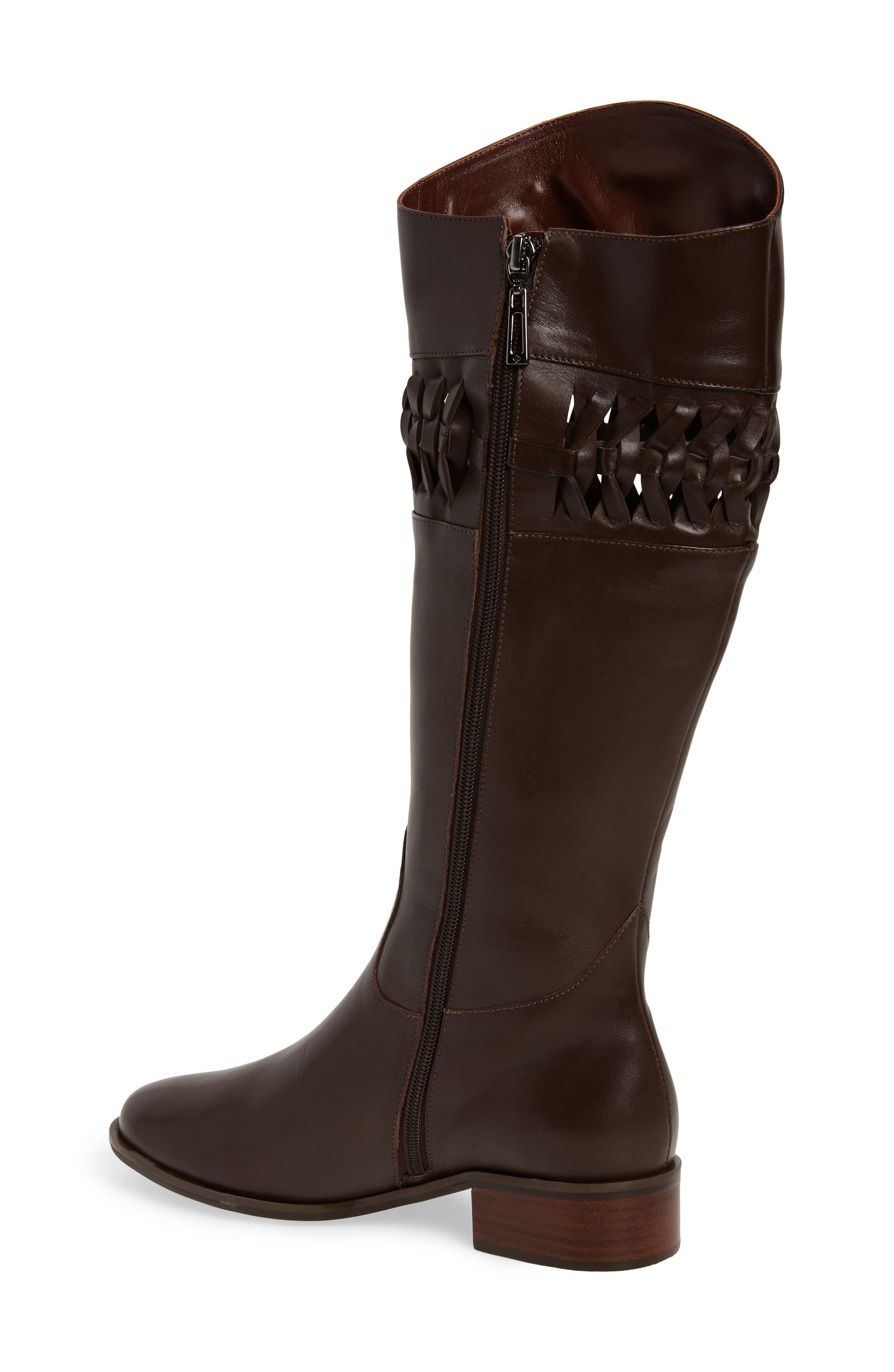 Zezette Woven Boot,                             Alternate thumbnail 2, color,                             Cafe Leather