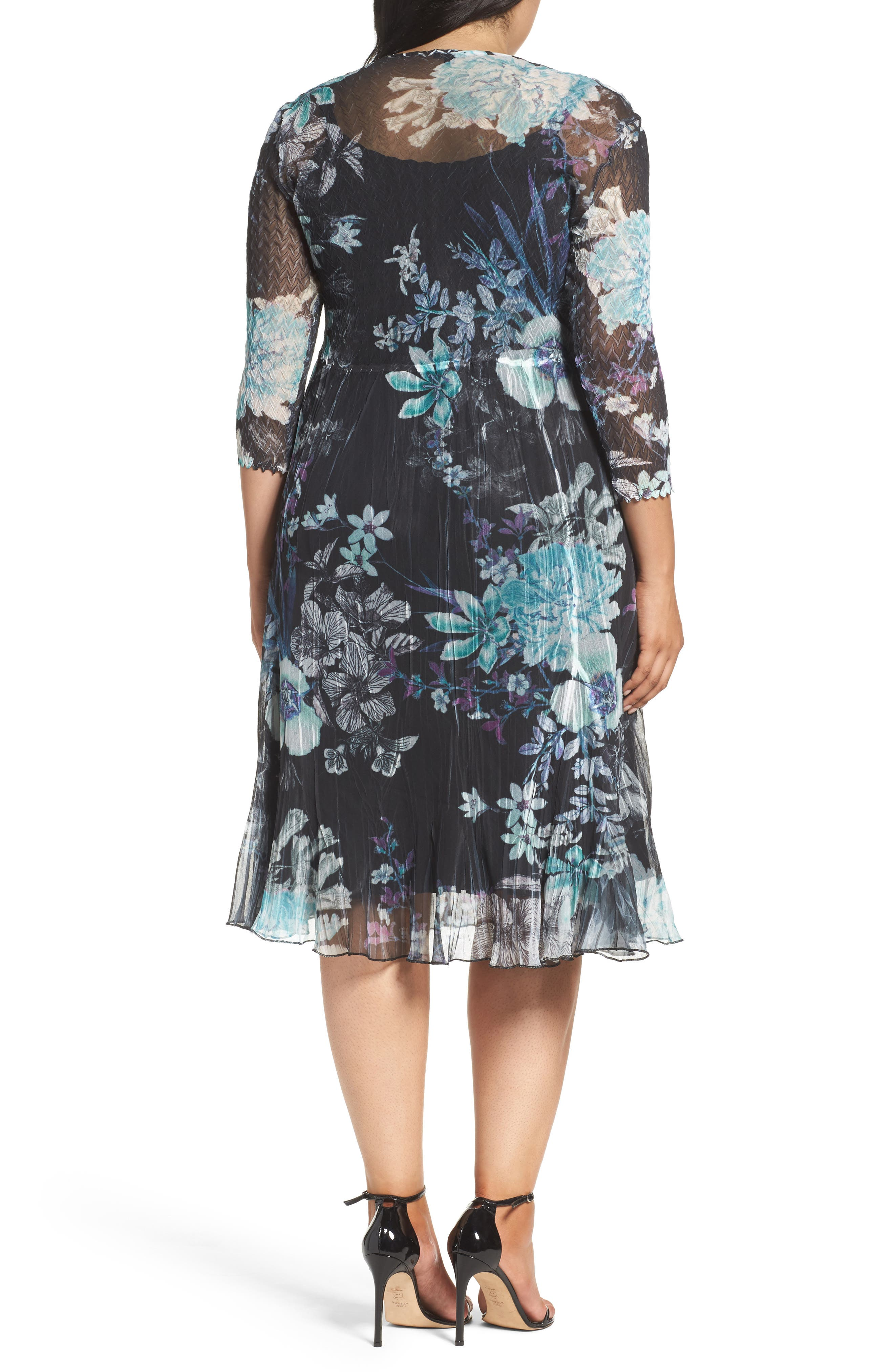 Alternate Image 2  - Komarov Print Chiffon Dress (Plus Size)