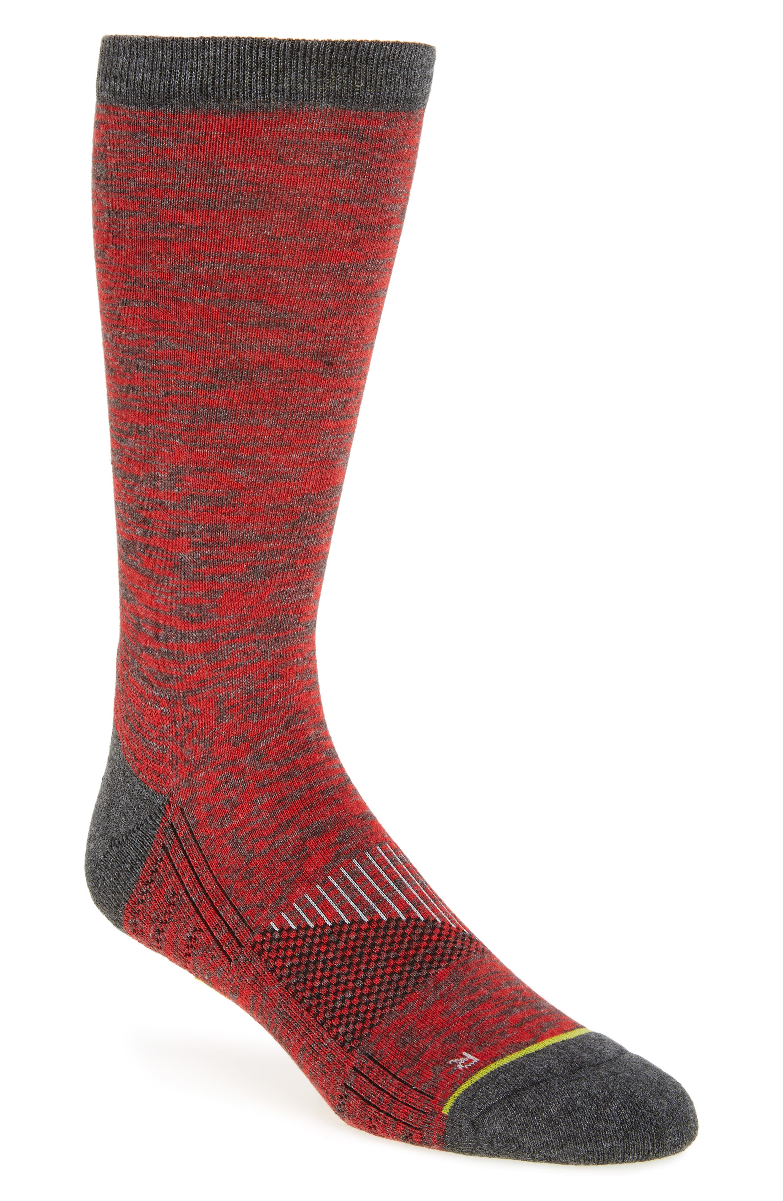 ZeroGrand Random Feed Crew Socks,                         Main,                         color, Graphite Heather