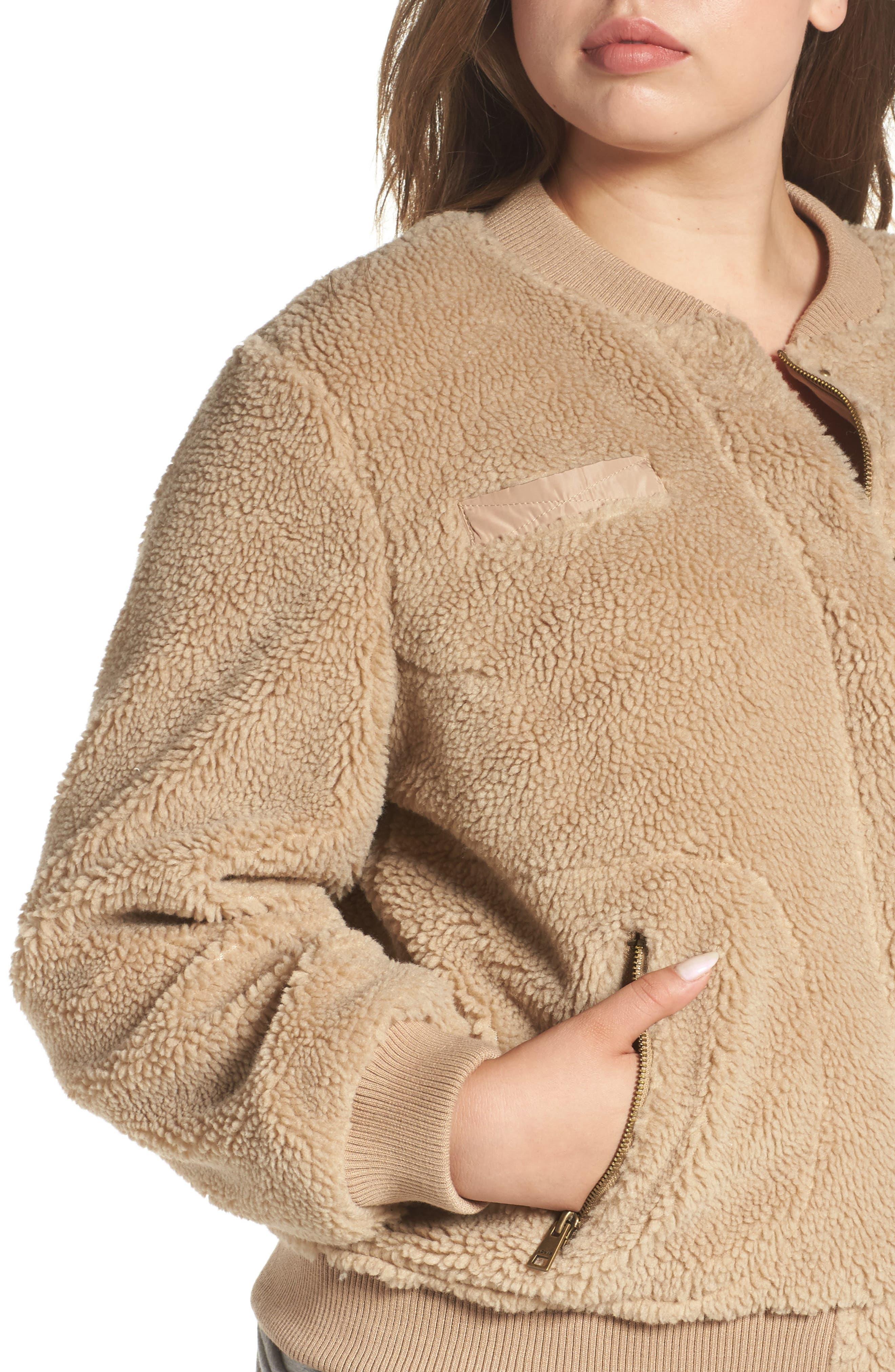 Alternate Image 4  - Levi's® Rib Knit Fleece Bomber Jacket