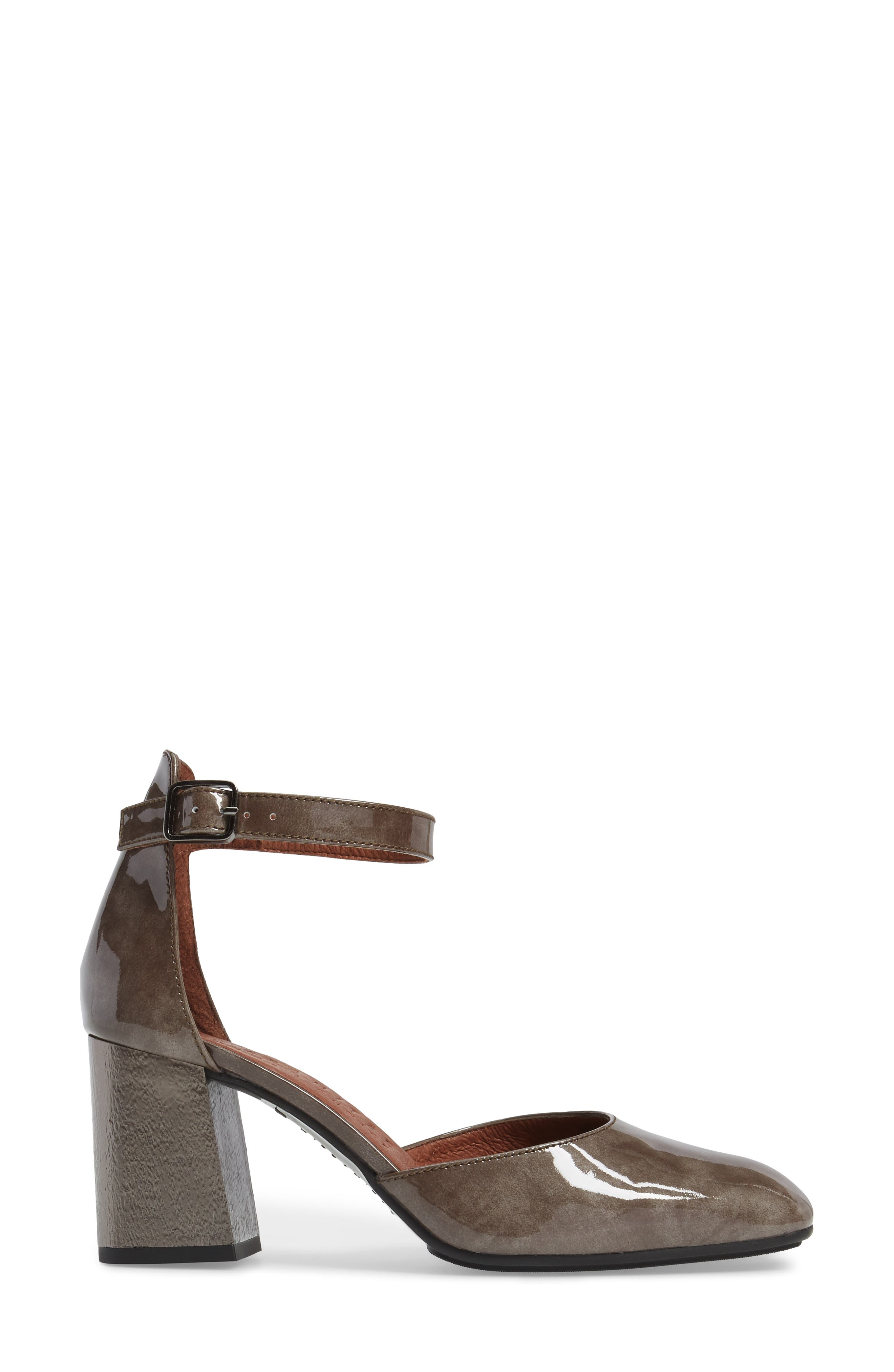 Paulette Flared Heel Pump,                             Alternate thumbnail 3, color,                             Vision Leather