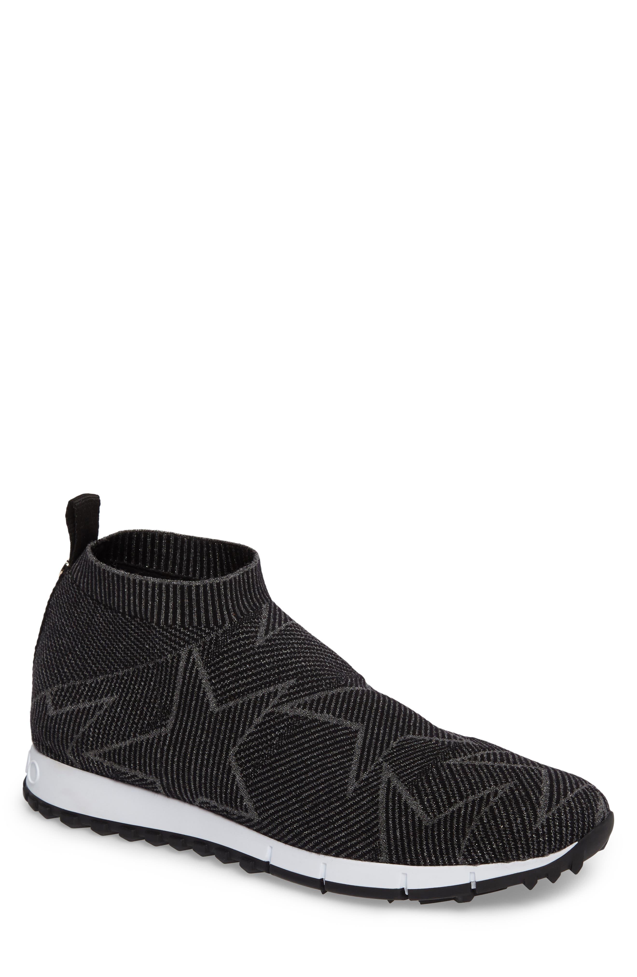 Jimmy Choo Norway High Top Sock Sneaker (Men)