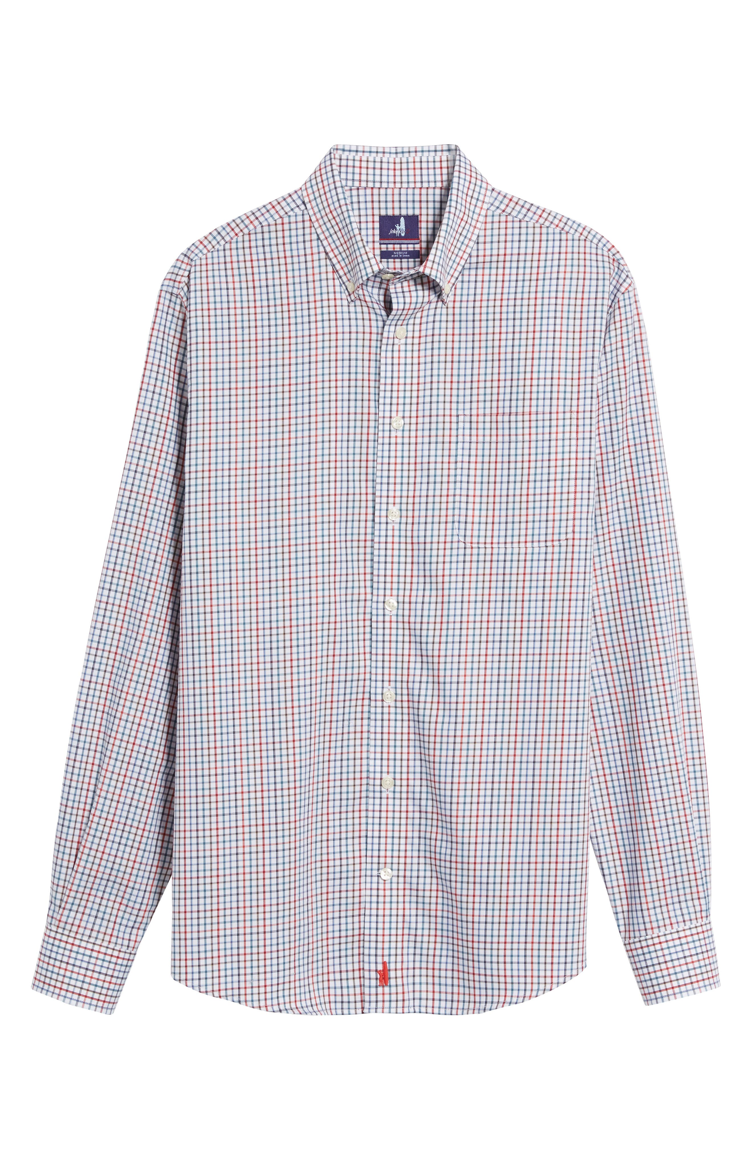 Snyder Classic Fit Check Sport Shirt,                             Alternate thumbnail 6, color,                             Phoenix