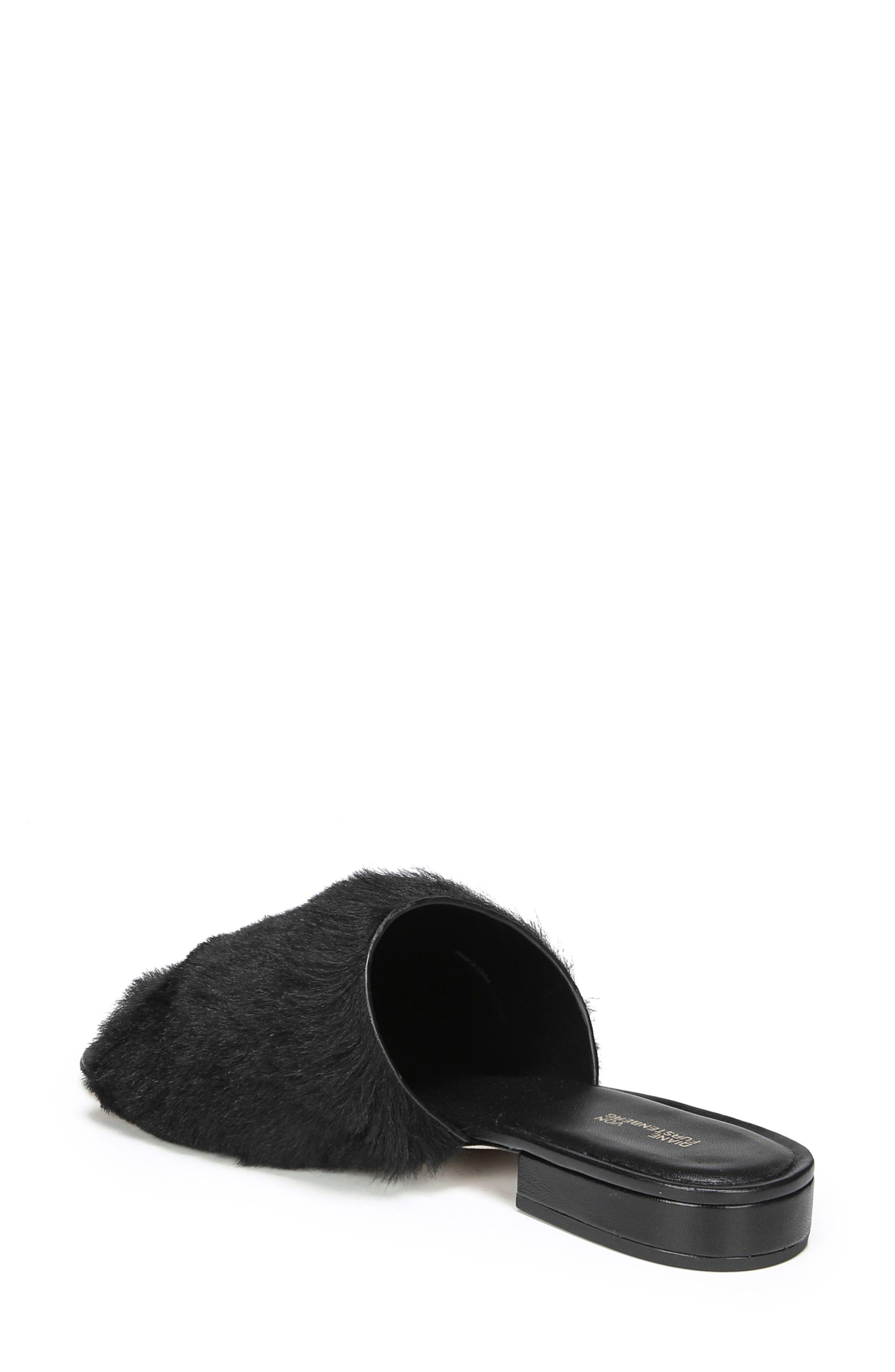 Santi Genuine Shearling Slide Sandal,                             Alternate thumbnail 2, color,                             Black